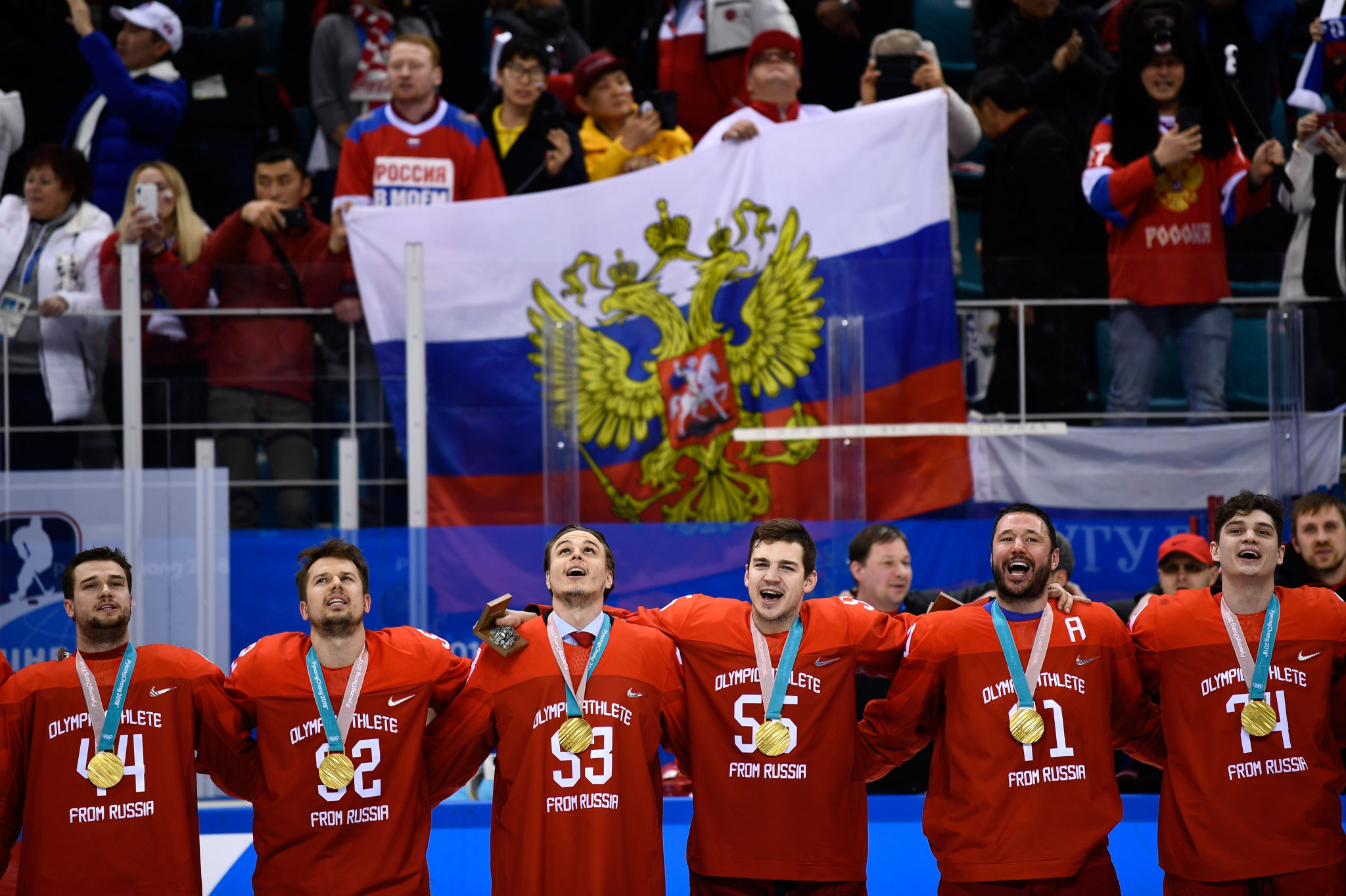 Russia's men are the defending Olympic ice hockey champions ©Getty Images