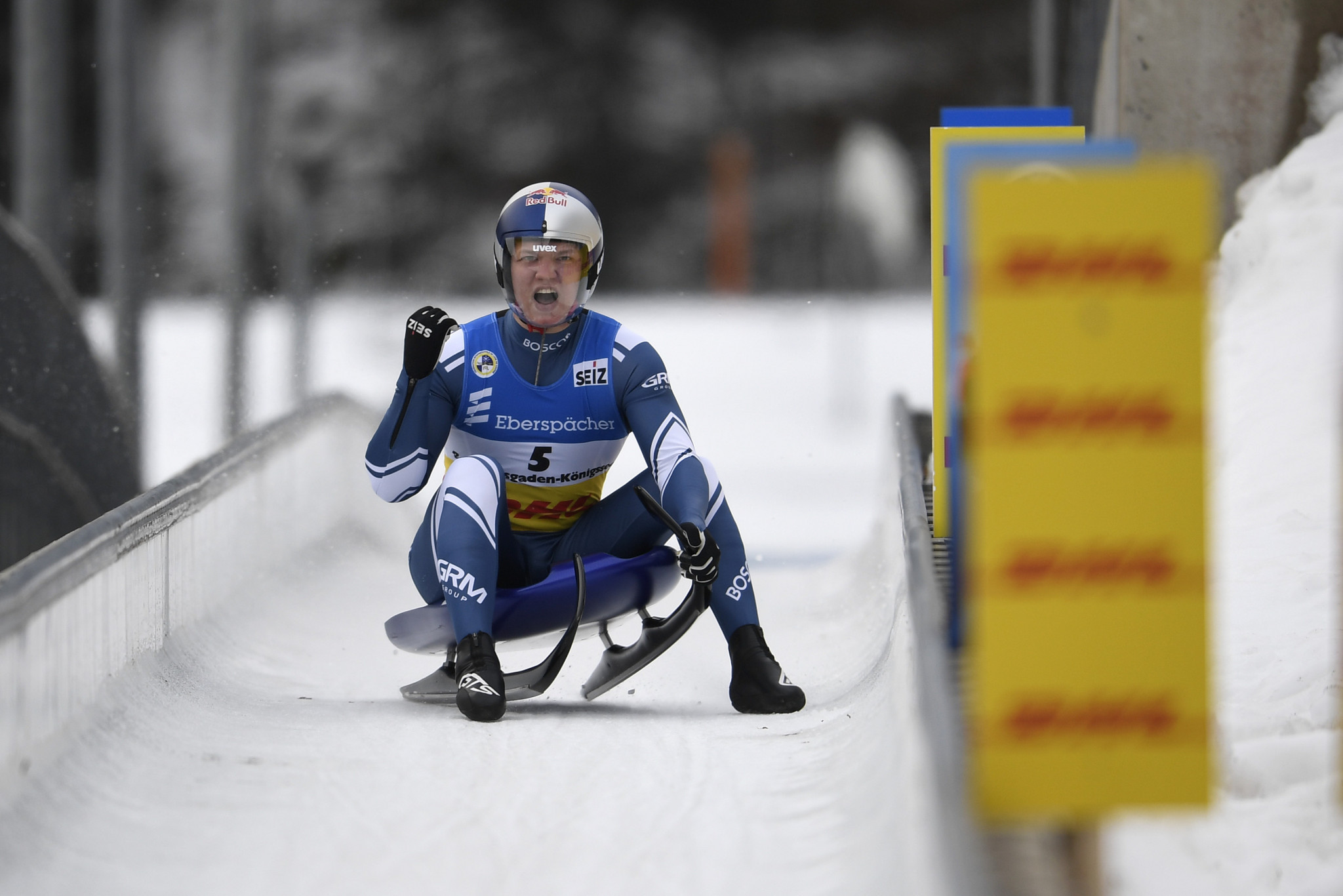 Russian Roman Repilov won the men's world title at the 2021 World Luge Championships ©Getty Images