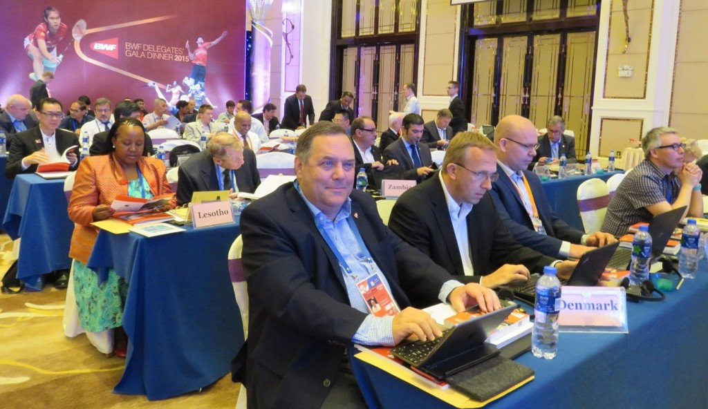 Of the 182 Badminton World Federation member associations 106 were in attendance in China