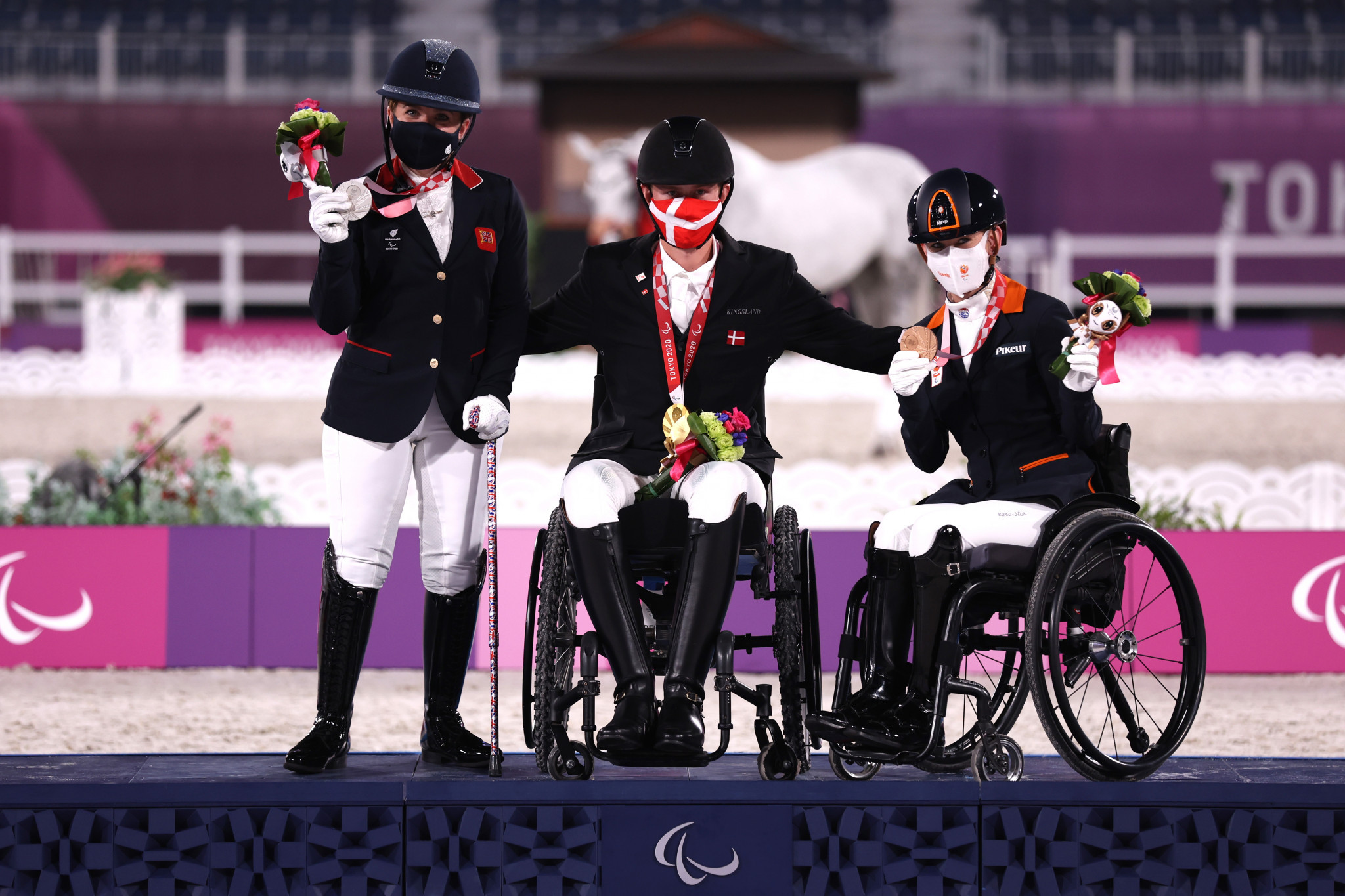 Danish delight as Joergensen wins nation's first gold of Tokyo 2020 Paralympics in dressage