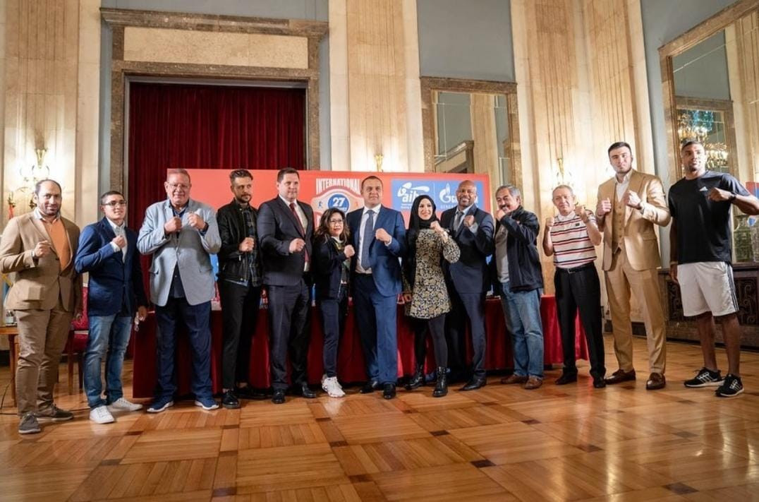 AIBA President Umar Kremlev has been joined by athletes from around the world to celebrate International Boxing Day in Belgrade ©Twitter/boksfederasyonu