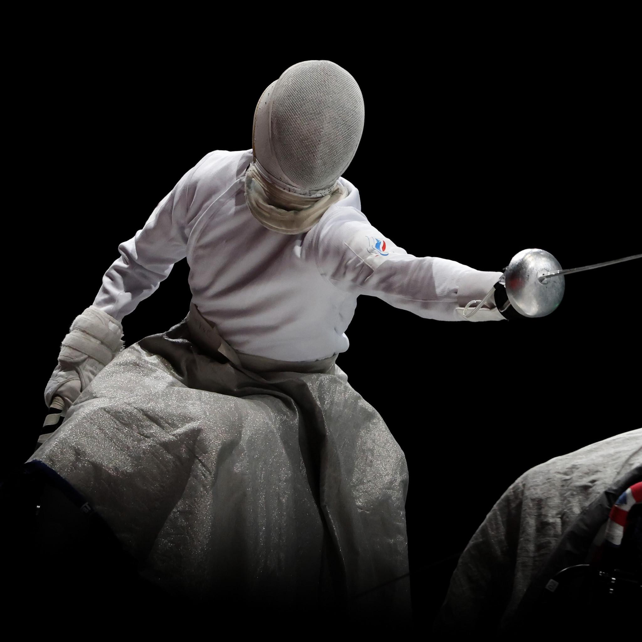 Men's épée wheelchair fencing team