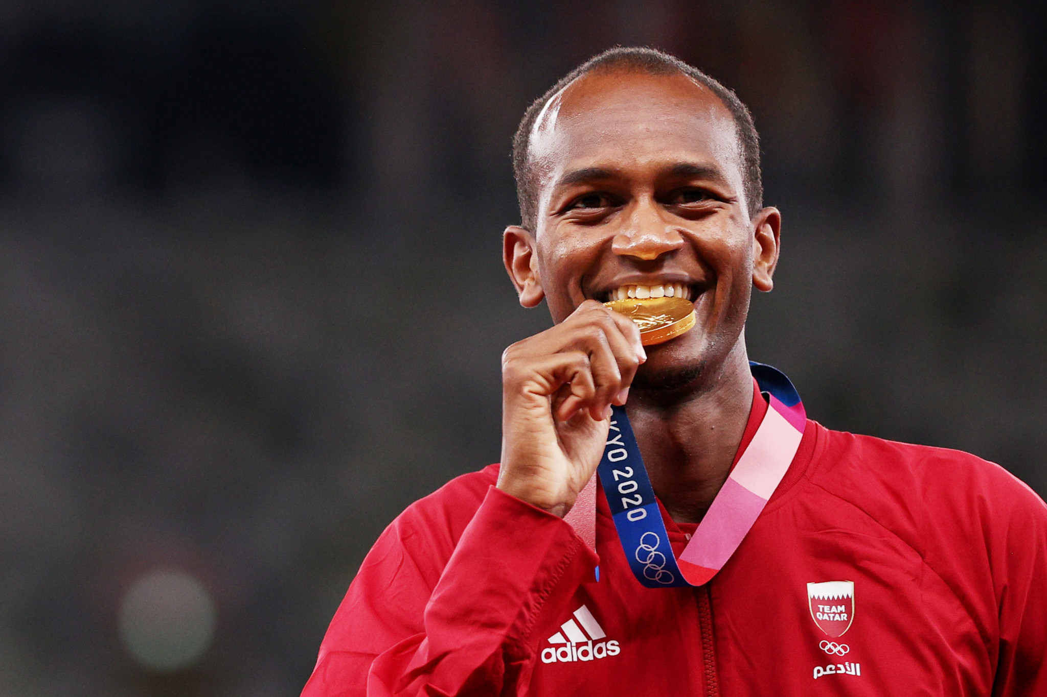 Mutaz Essa Barshim clinched one of Qatar's two gold medals at Tokyo 2020, sharing it with Gianmarco Tamberi in the men's high jump ©Getty Images