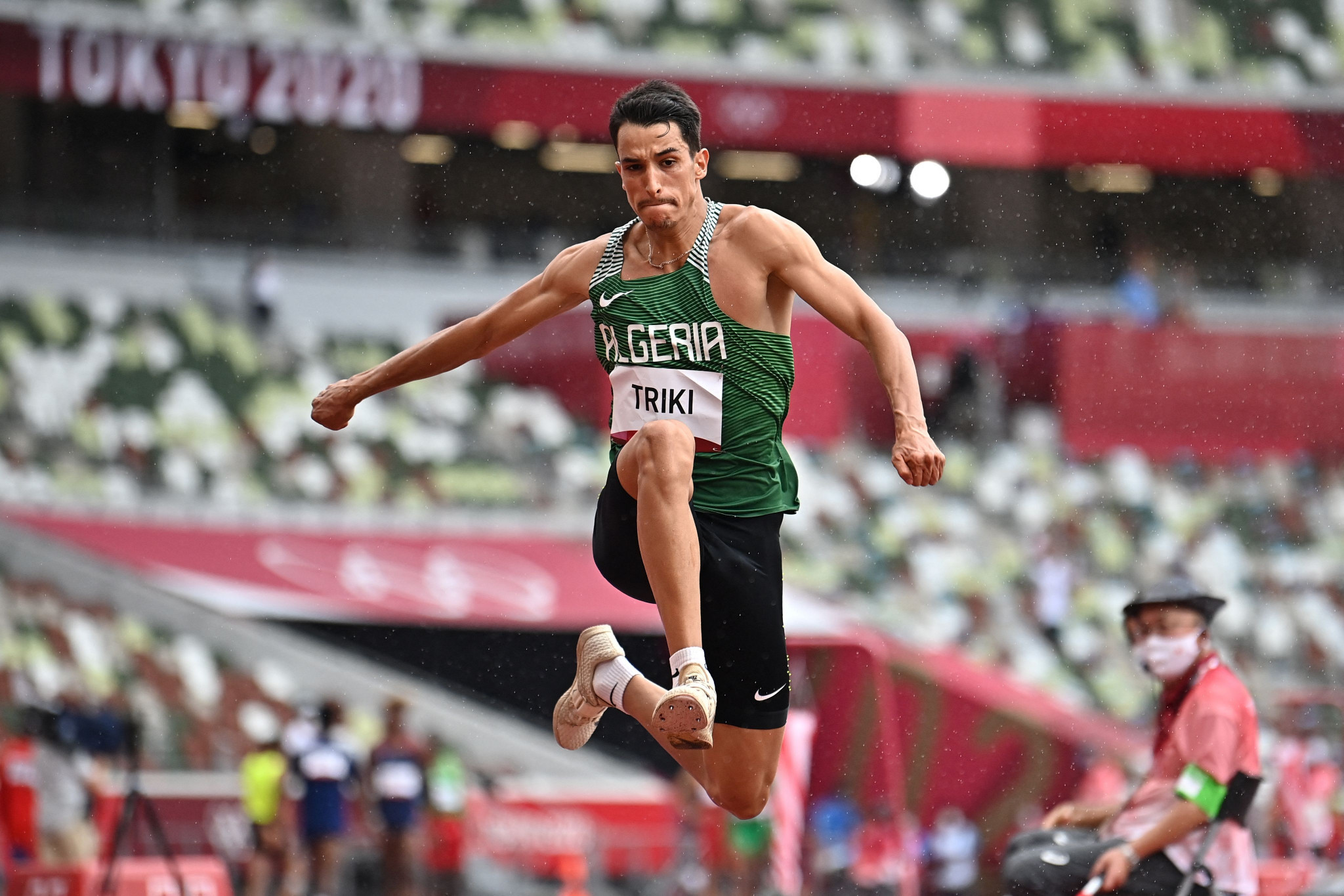 Yasser Triki's fifth place in the men's triple jump was Algeria's best result at the Tokyo 2020 Olympics ©Getty Images