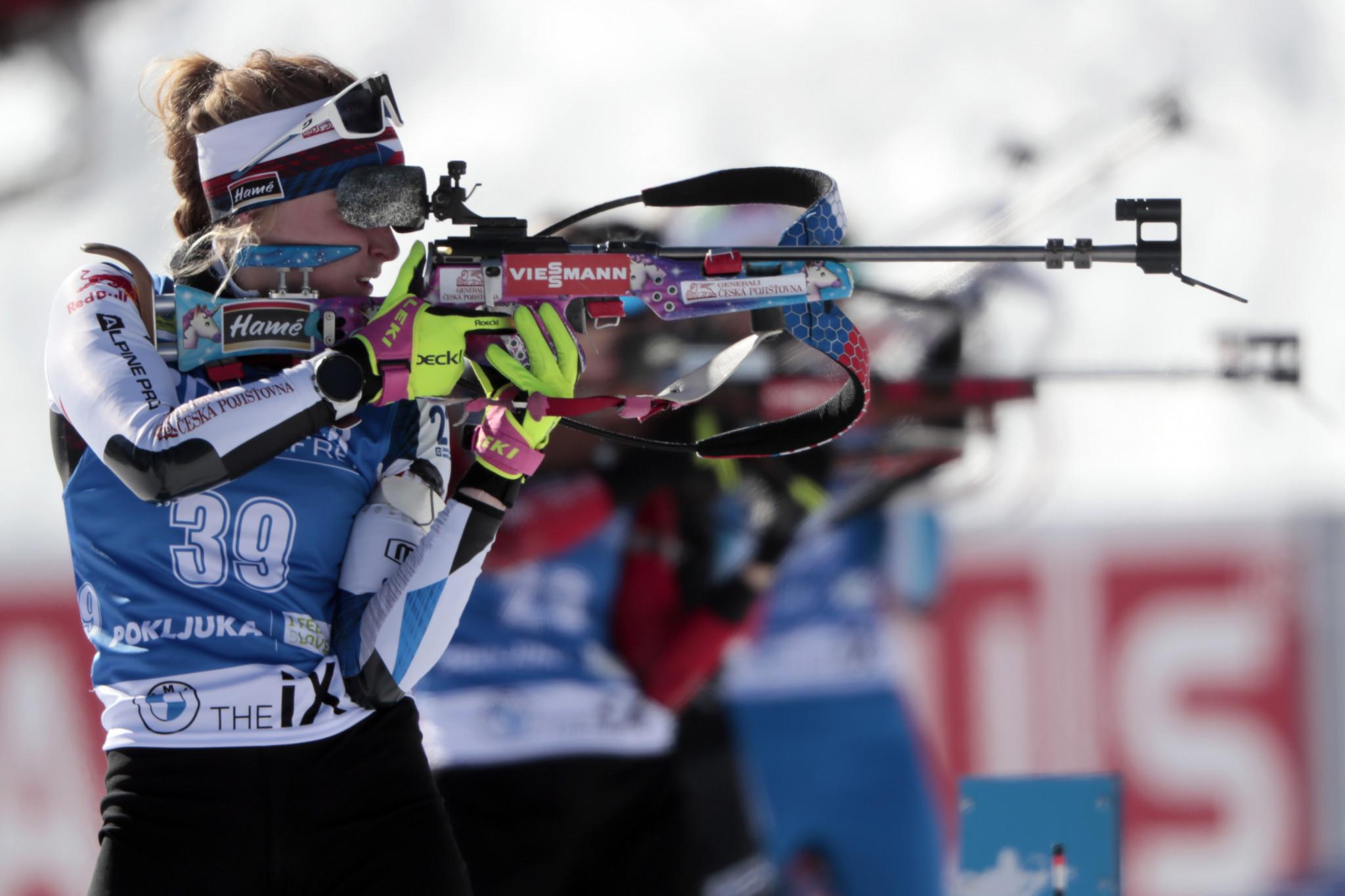 Krčmář and Davidová deliver Czech double at IBU Summer Biathlon World Championships