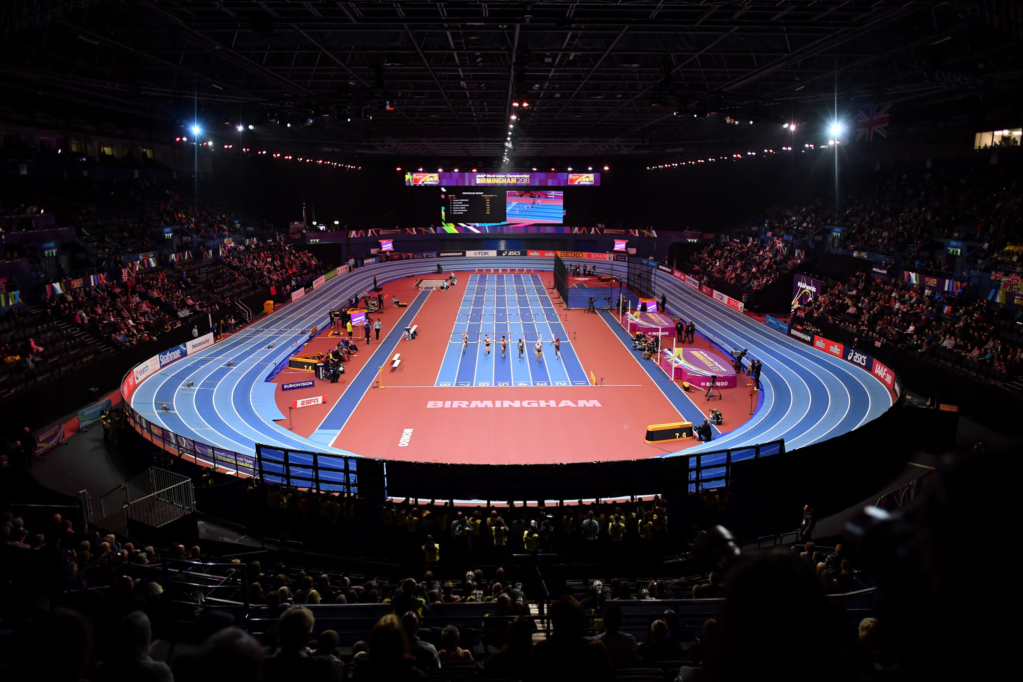 Birmingham hosed the World Indoor Athletics Championships in 2018 ©Getty Images