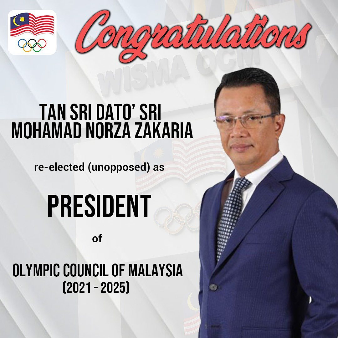 Olympic Council of Malaysia President re-elected for second term in office