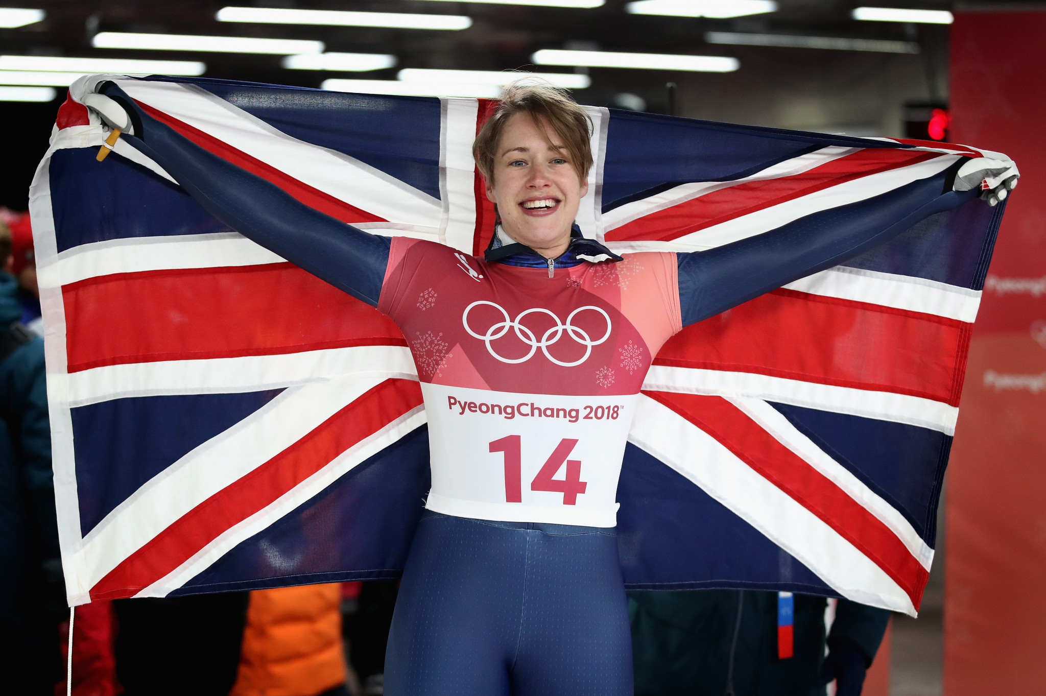 Double Olympic gold medallist, Lizzy Yarnold, started skeleton after participating in UK Sport's Girls4Gold similar talent search scheme ©Getty Images