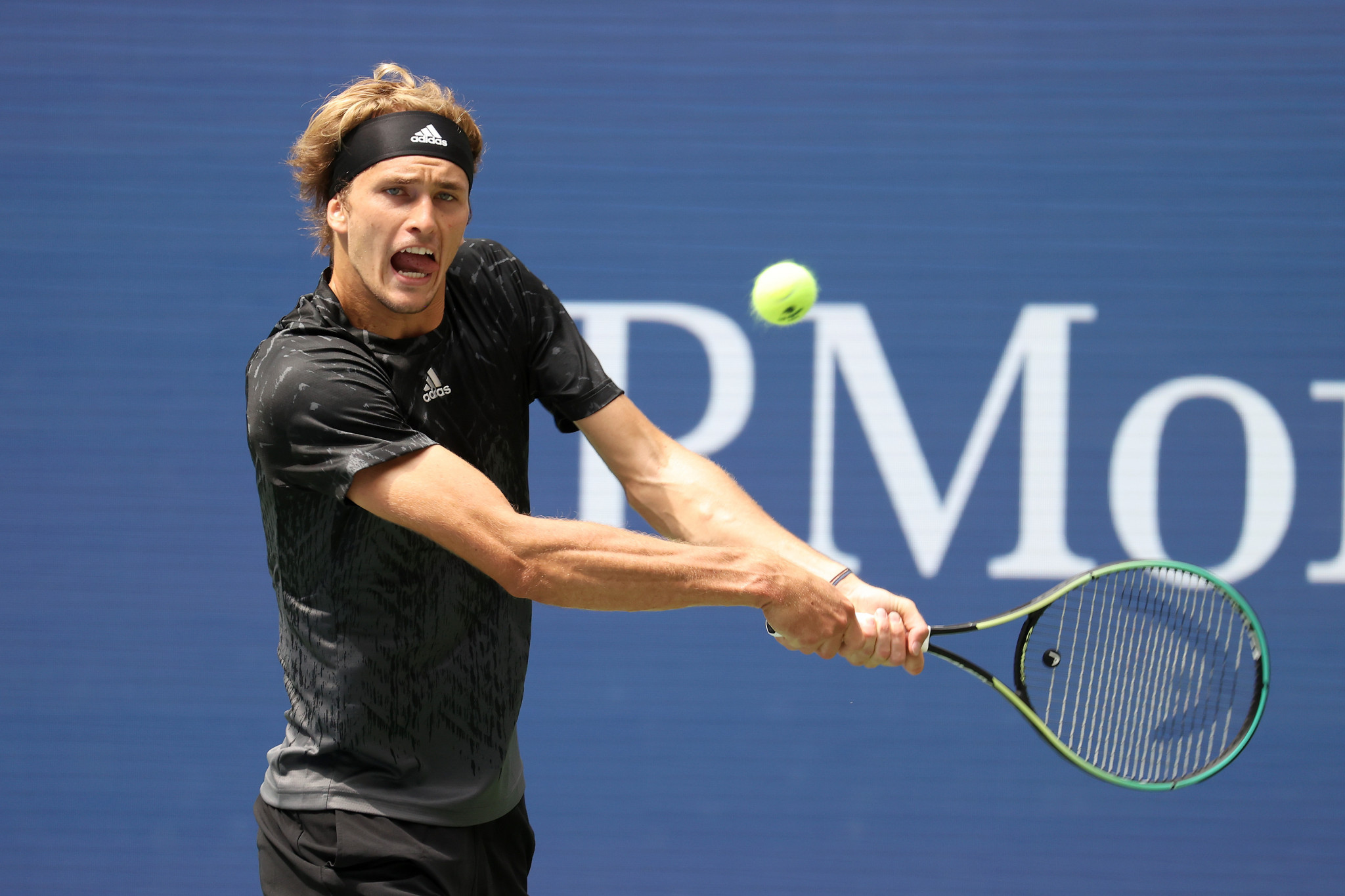 Germany's Alexander Zverev, whose best performance at the US Open was runner-up in 2020, smashed 18 aces as he defeated the United States Sam Querrey in the first round of this tournament ©Getty Images