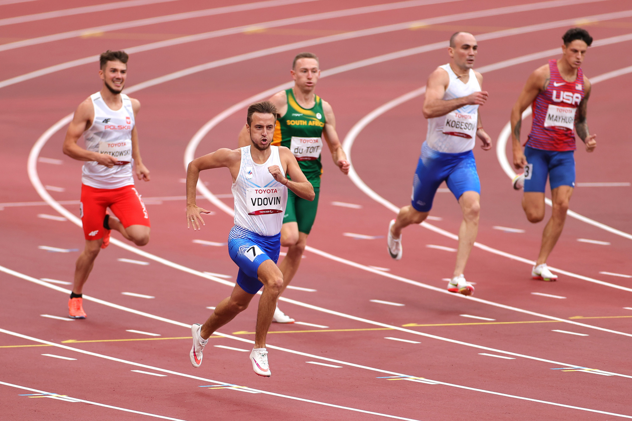 Andrei Vdovin broke his own world record in the men's T37 400m, earning gold with a time of 49.34 seconds ©Getty Images