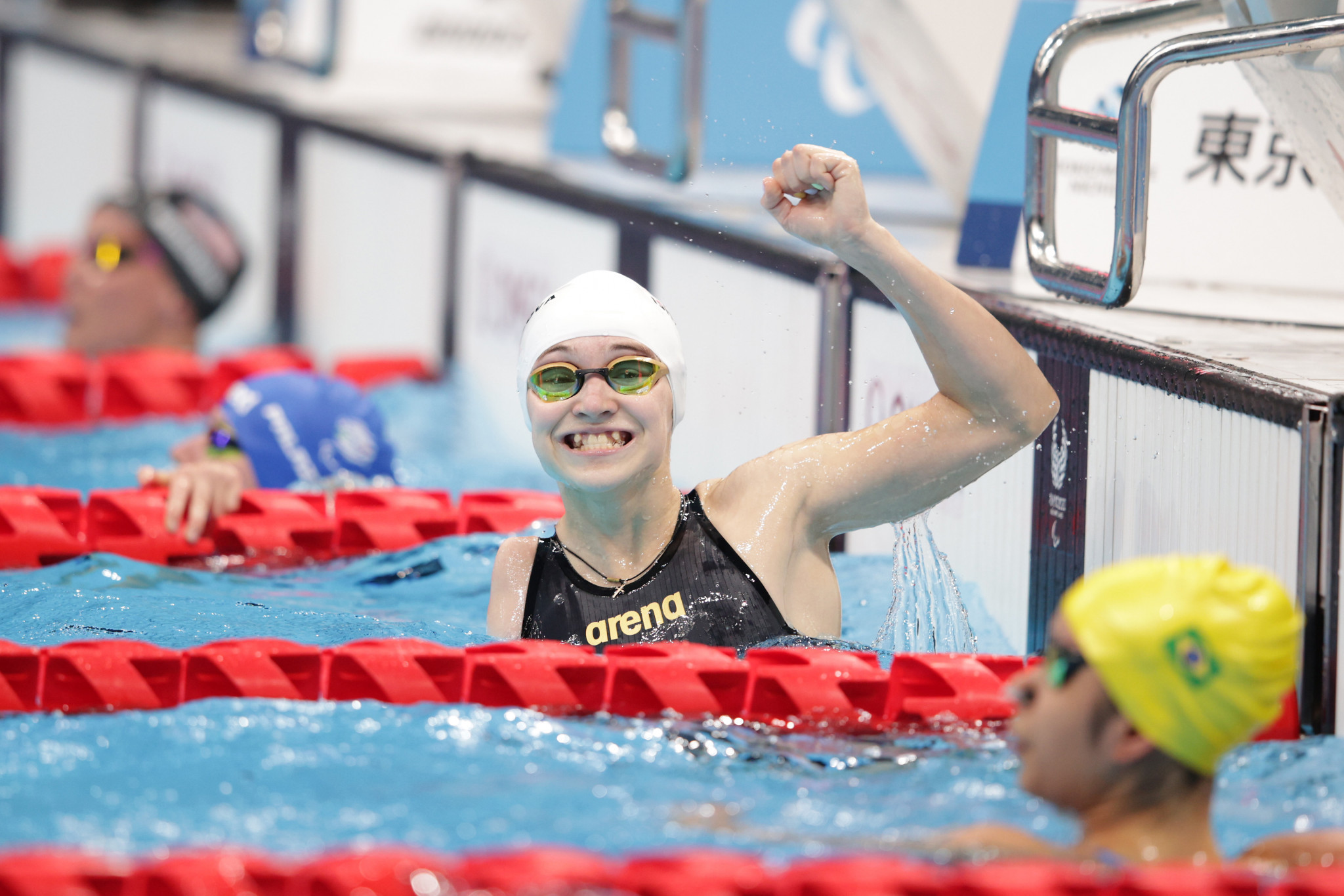 Viktoriia Ishchiulova triumphed in the women's S8 50m freestyle with a time of 29.91 seconds ©Getty Images