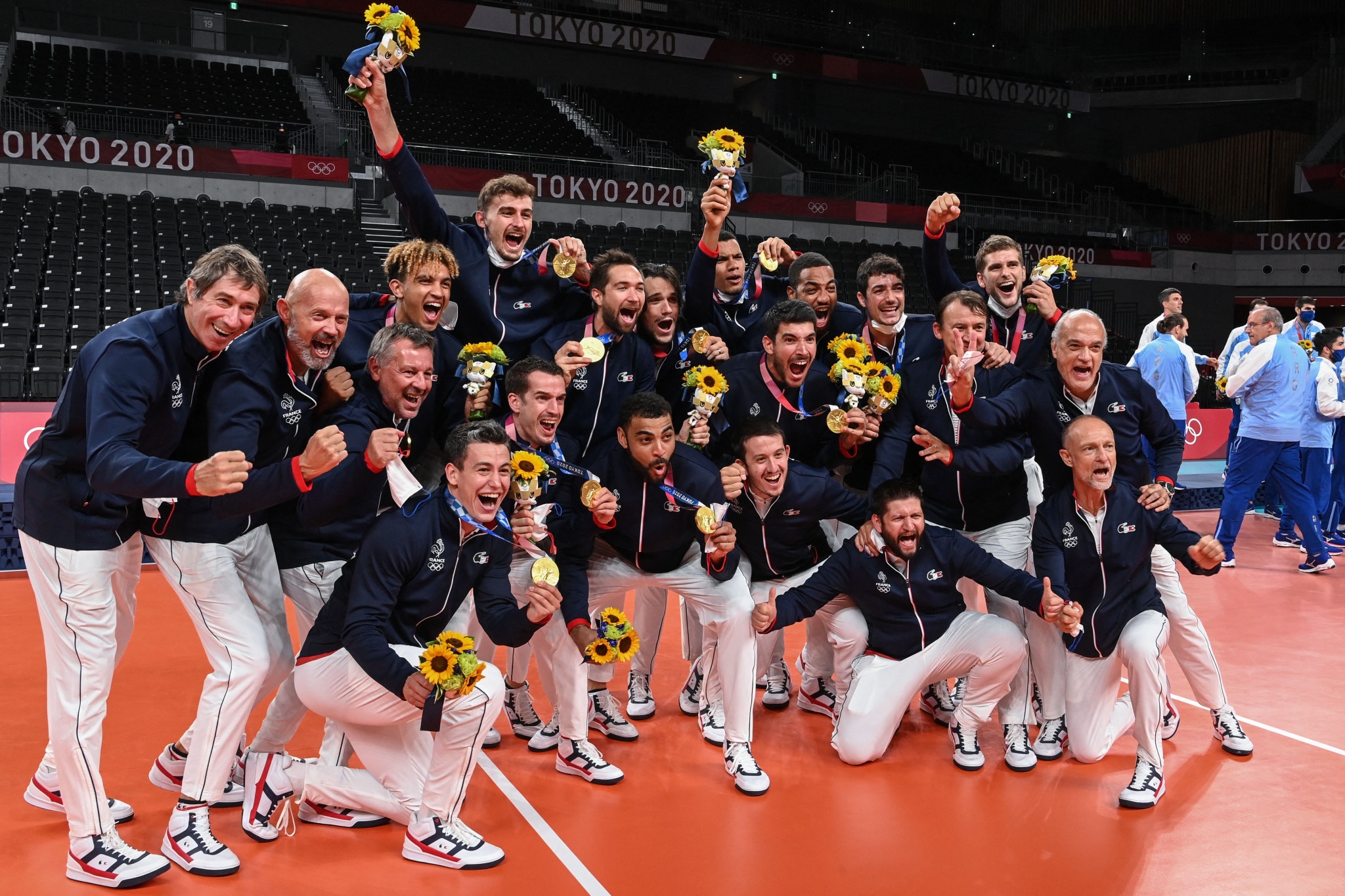 France earned gold at the Tokyo 2020 Olympics, and their team for the European Championships includes three members of the Olympic dream team ©Getty Images