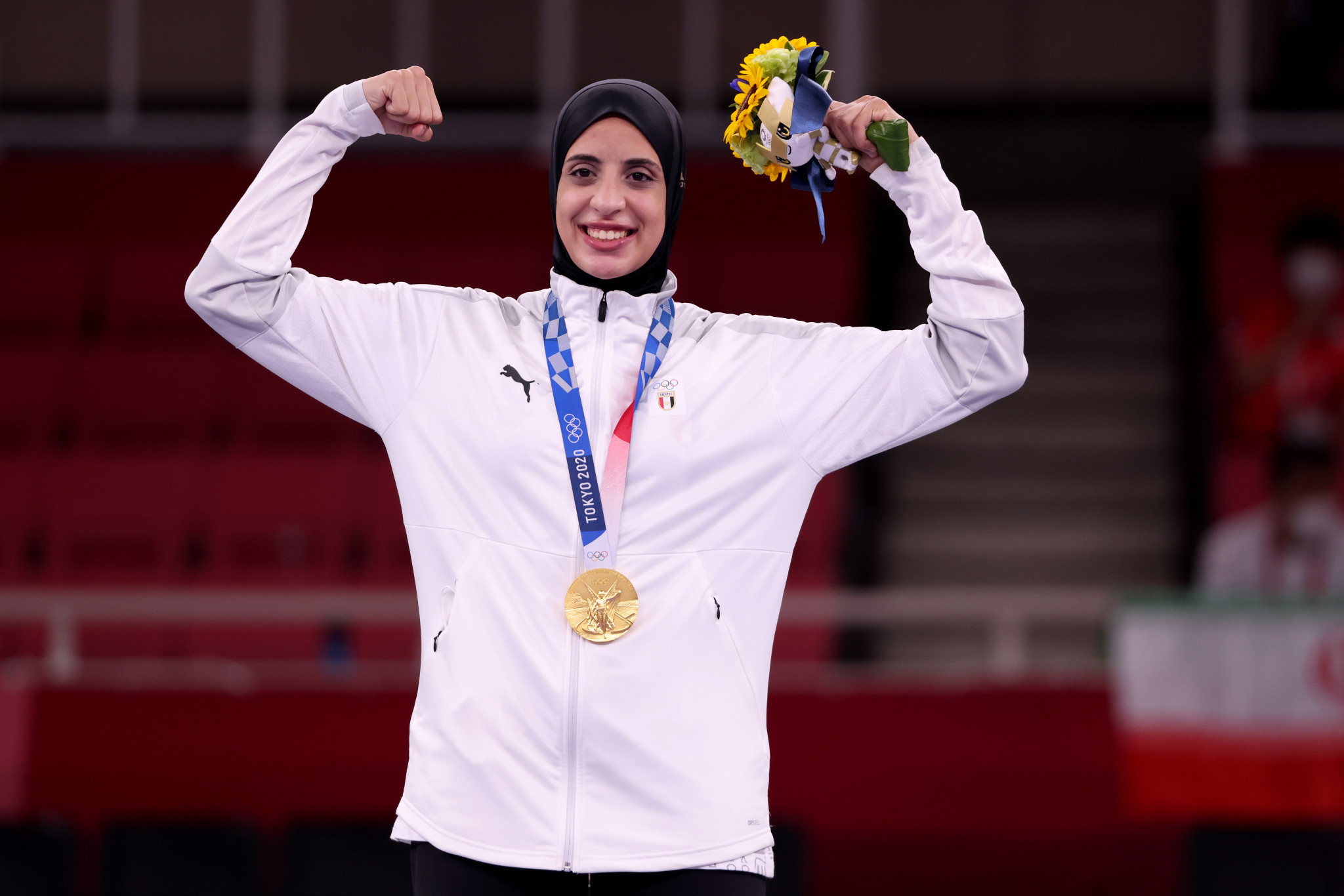 Home hero Feryal Abdelaziz will compete in the third Karate 1-Premier League event in Cairo this weekend ©Getty Images