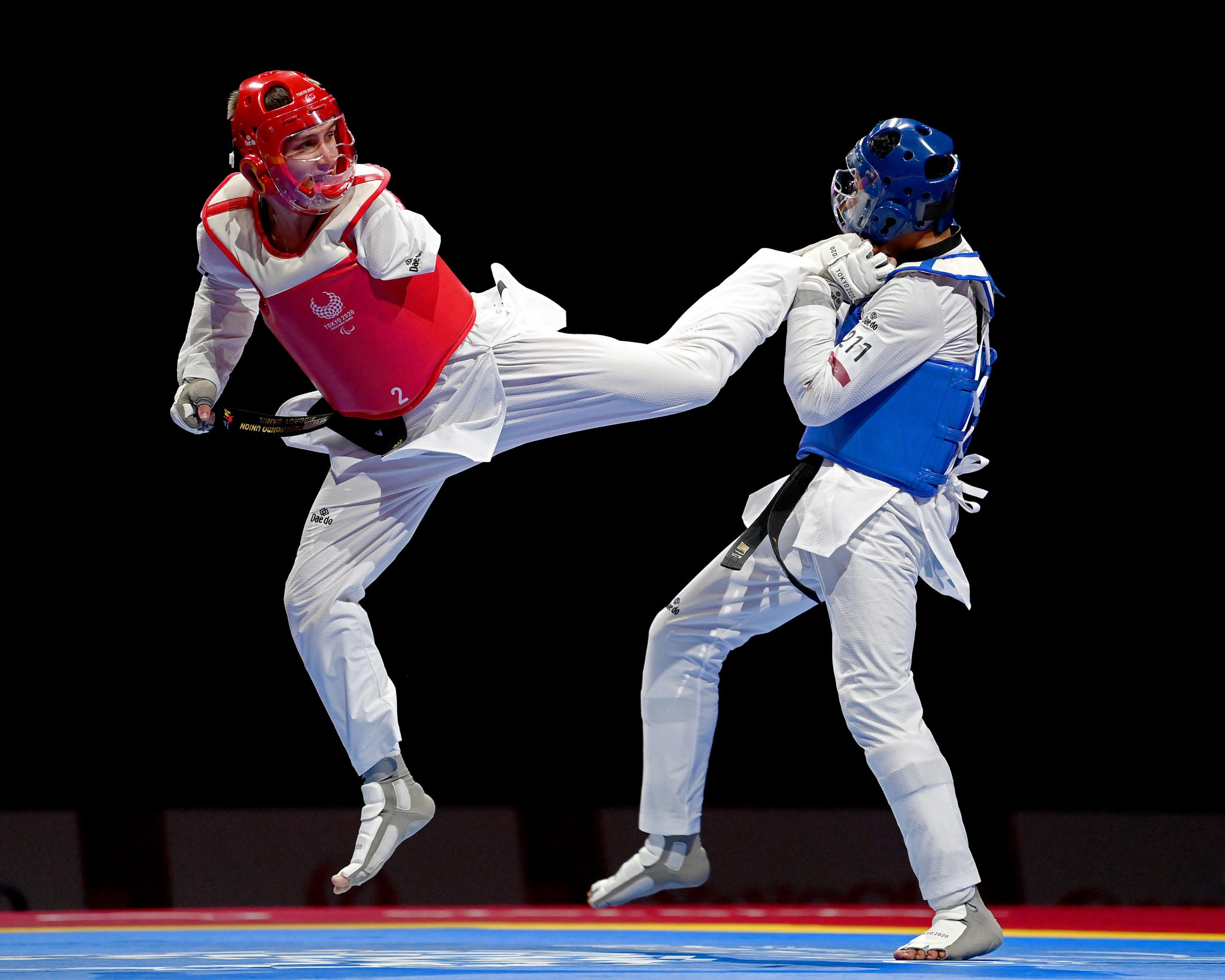 Elzayat stretchered off twice as first Paralympic taekwondo champions are crowned