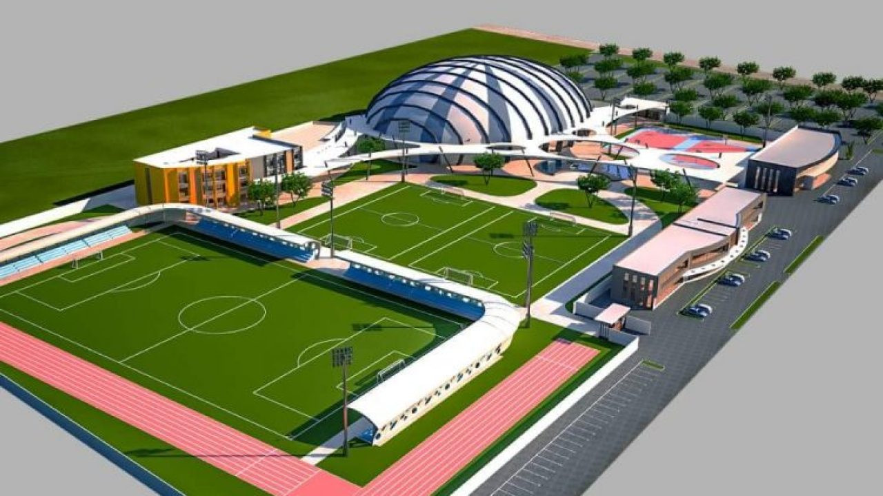The new sports complex at Borteyman in Accra will include a temporary dome to host handball, judo, karate, taekwondo and volleyball during the 2023 African Games ©The Presidency Republic of Ghana