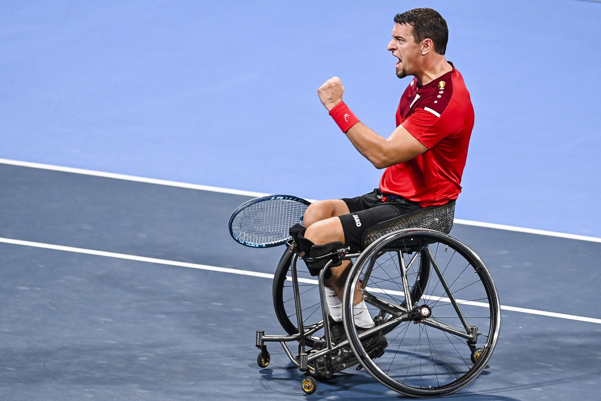 Wheelchair tennis player Joachim Gérard remains in hospital after suffering from suspected cardiac issues ©Getty Images