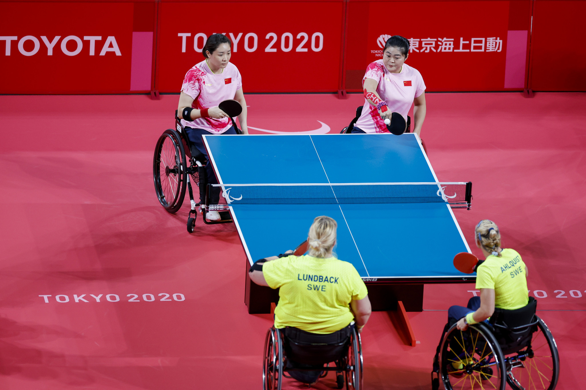 China celebrate three team table tennis gold medals at Tokyo 2020 Paralympics