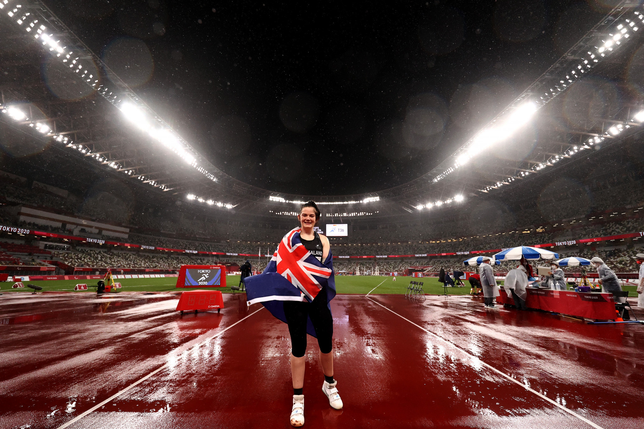 Holly Robinson won gold in the women's javelin throw F46 ©Getty Images