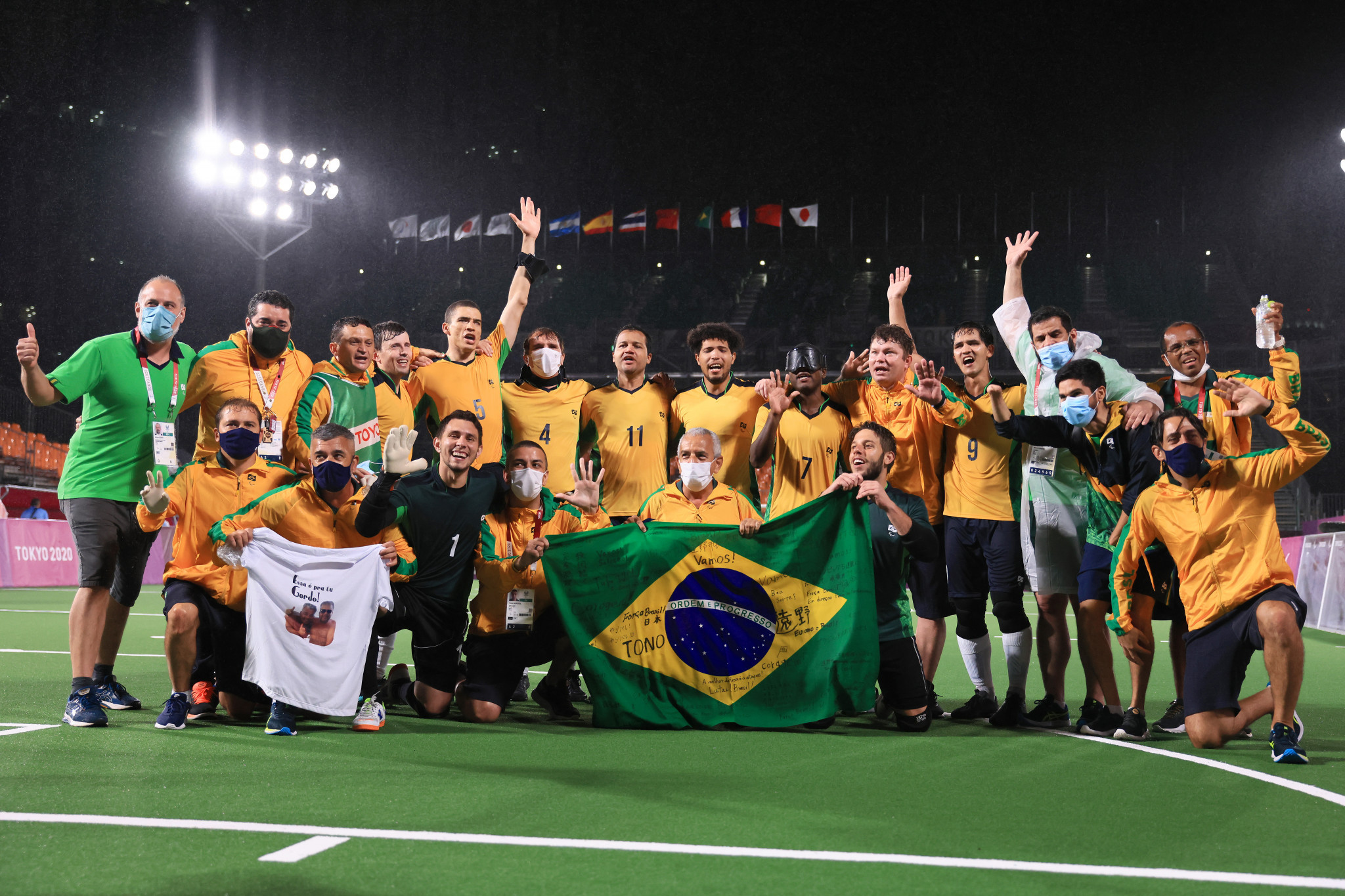Brazil maintain unbeaten record at Paralympics in blind football with gold medal