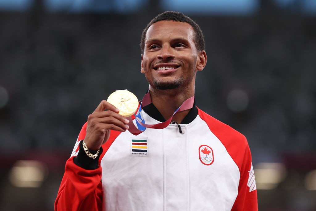 Canada's Olympic 200 metres champion Andre De Grasse will race over that distance tomorrow in the World Athletics Continental Tour Gold meeting in Chorzow, Poland ©Getty Images