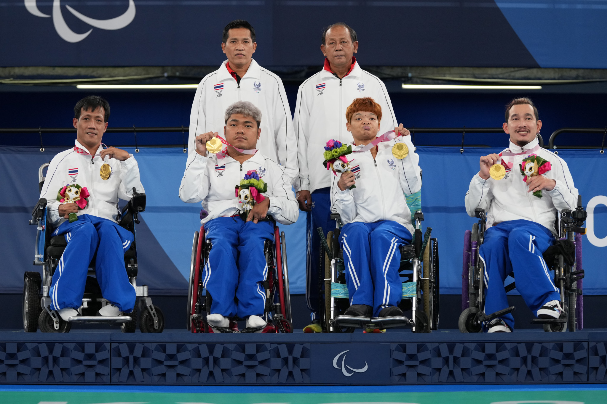 Thailand were the winners of the BC1-2 team boccia final ©Getty Images