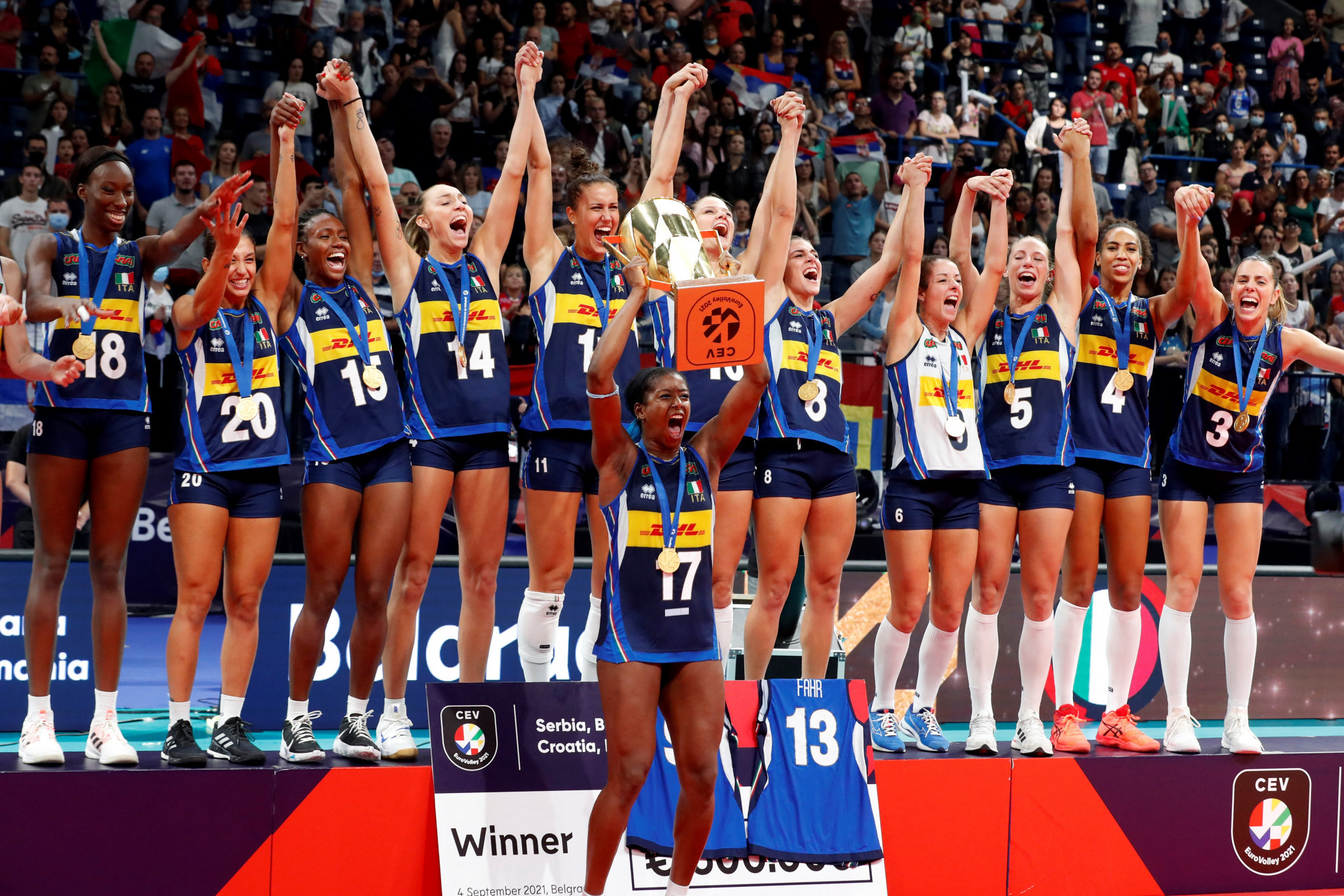 Italy clinch Women's EuroVolley title, ending Serbia's bid for three-in-a-row