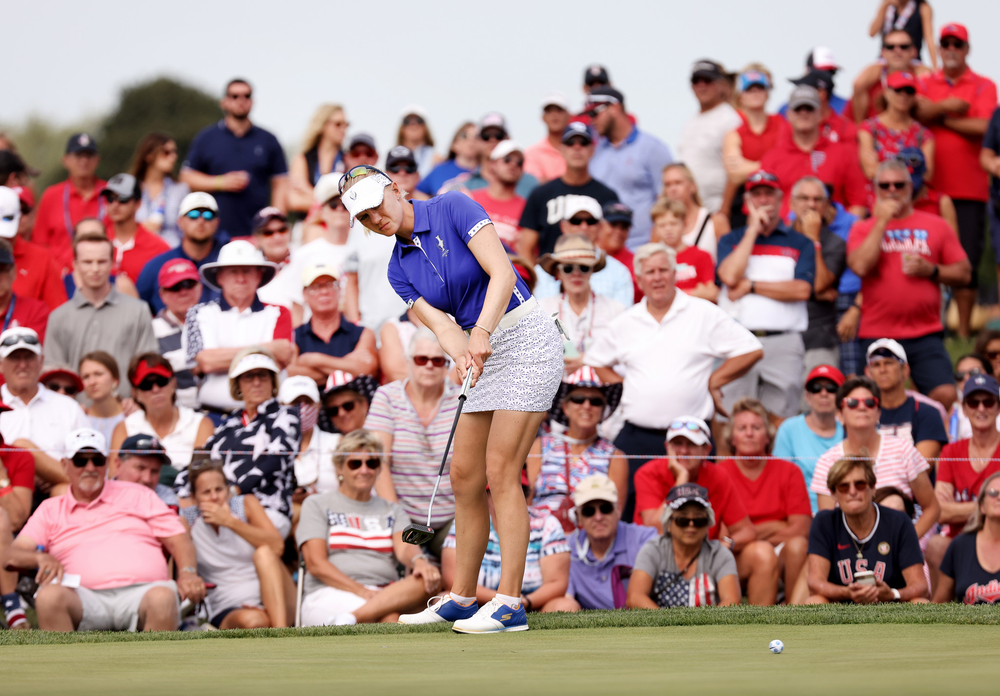 Europe lead by three points after first day of Solheim Cup defence