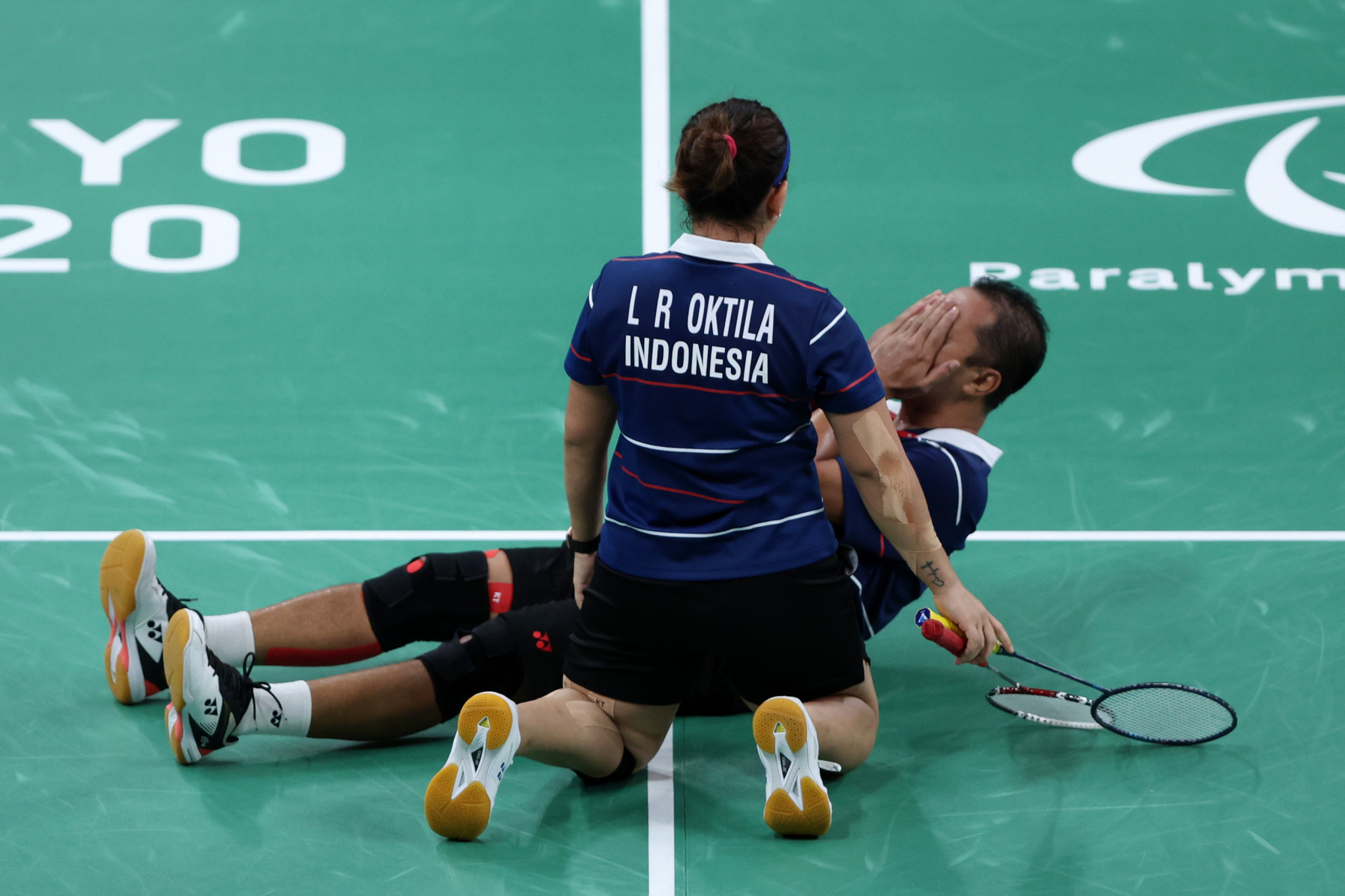 Indonesia badminton mixed doubles win final Paralympic Games gold medal of Tokyo 2020