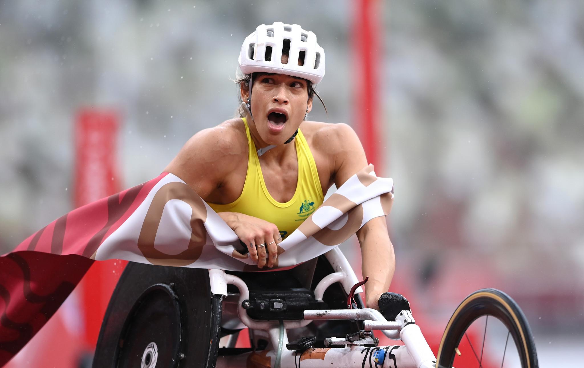 Australia's Madison de Rozario won the women's T54 marathon event ©Getty Images