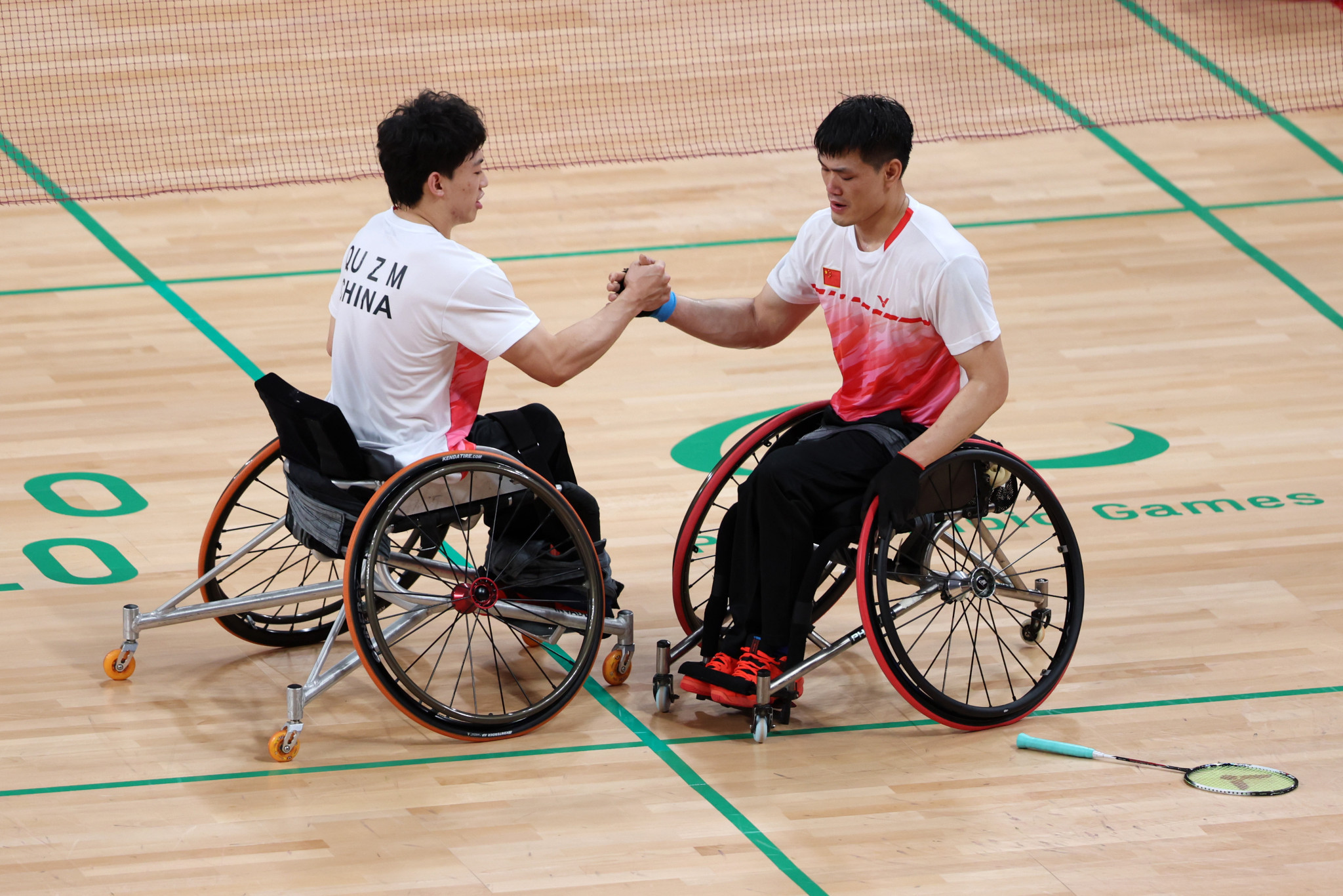 China's Qu Zimo and Mai Jianpeng were among the winners in para badminton on the final day ©Getty Images