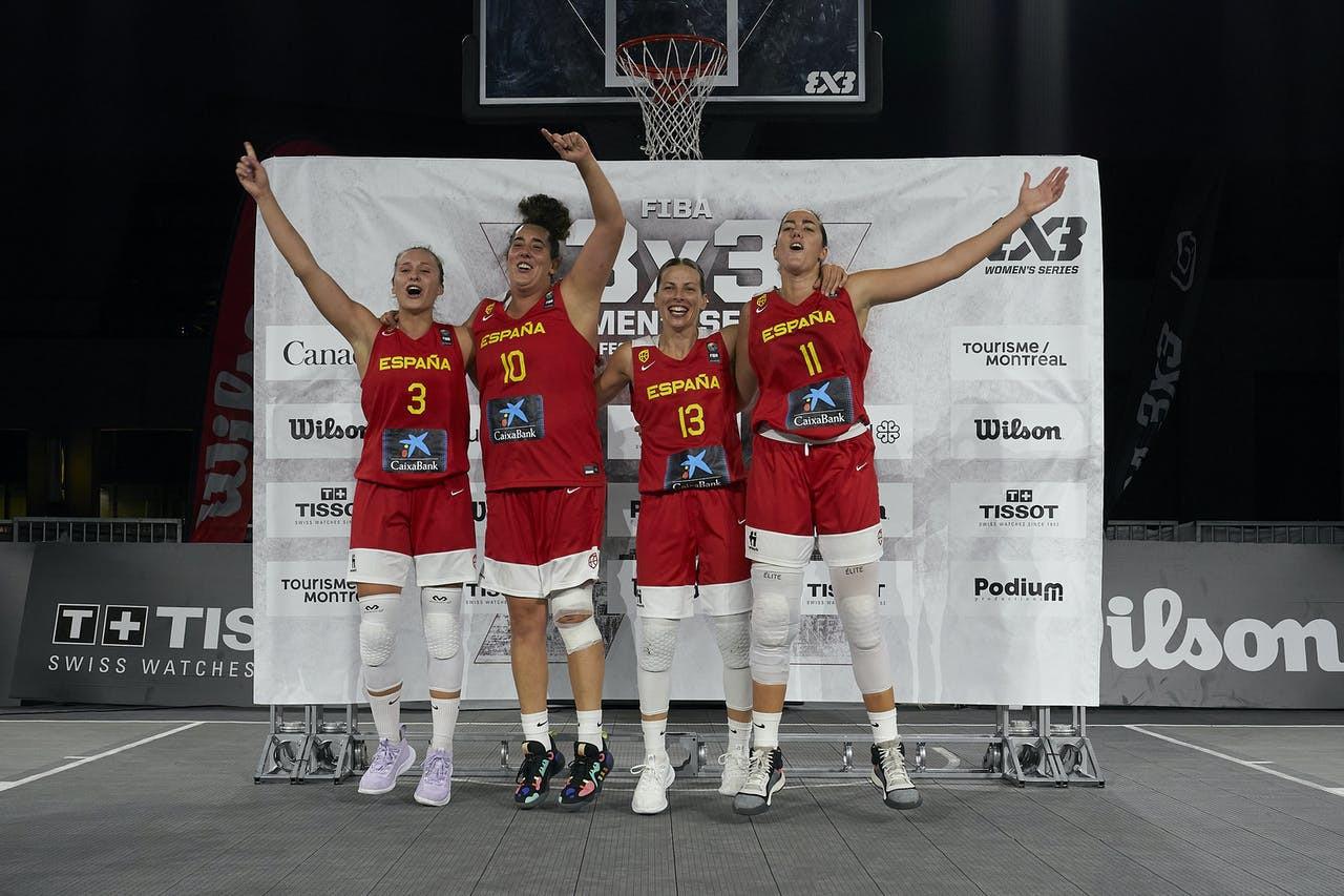 Cuevas leads Spain to glory in FIBA 3x3 Women's Series Montreal