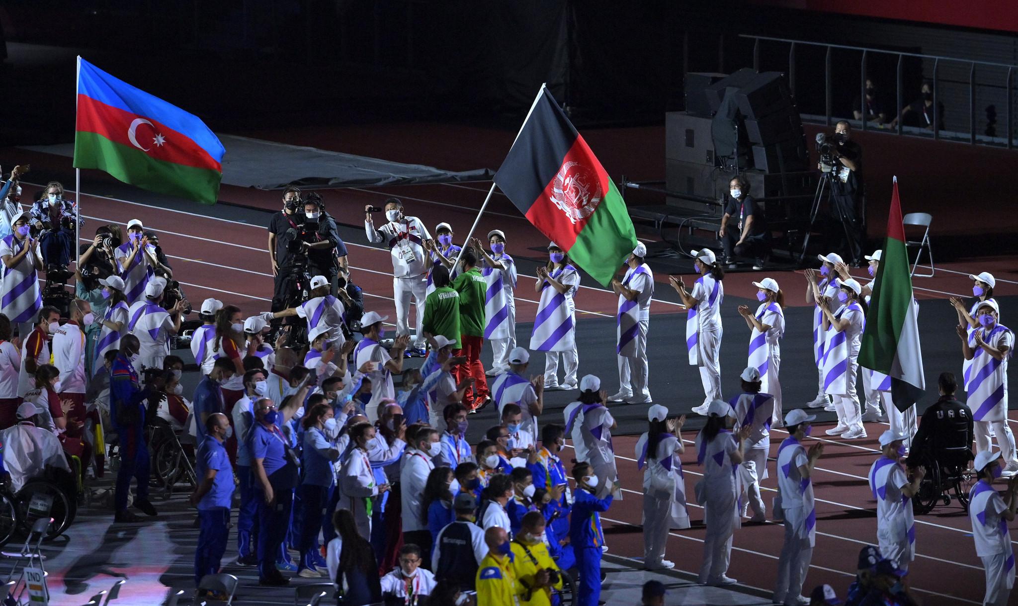 Hossain Rasouli and Zakia Khudadadi flew the flag for Afghanistan ©Getty Images