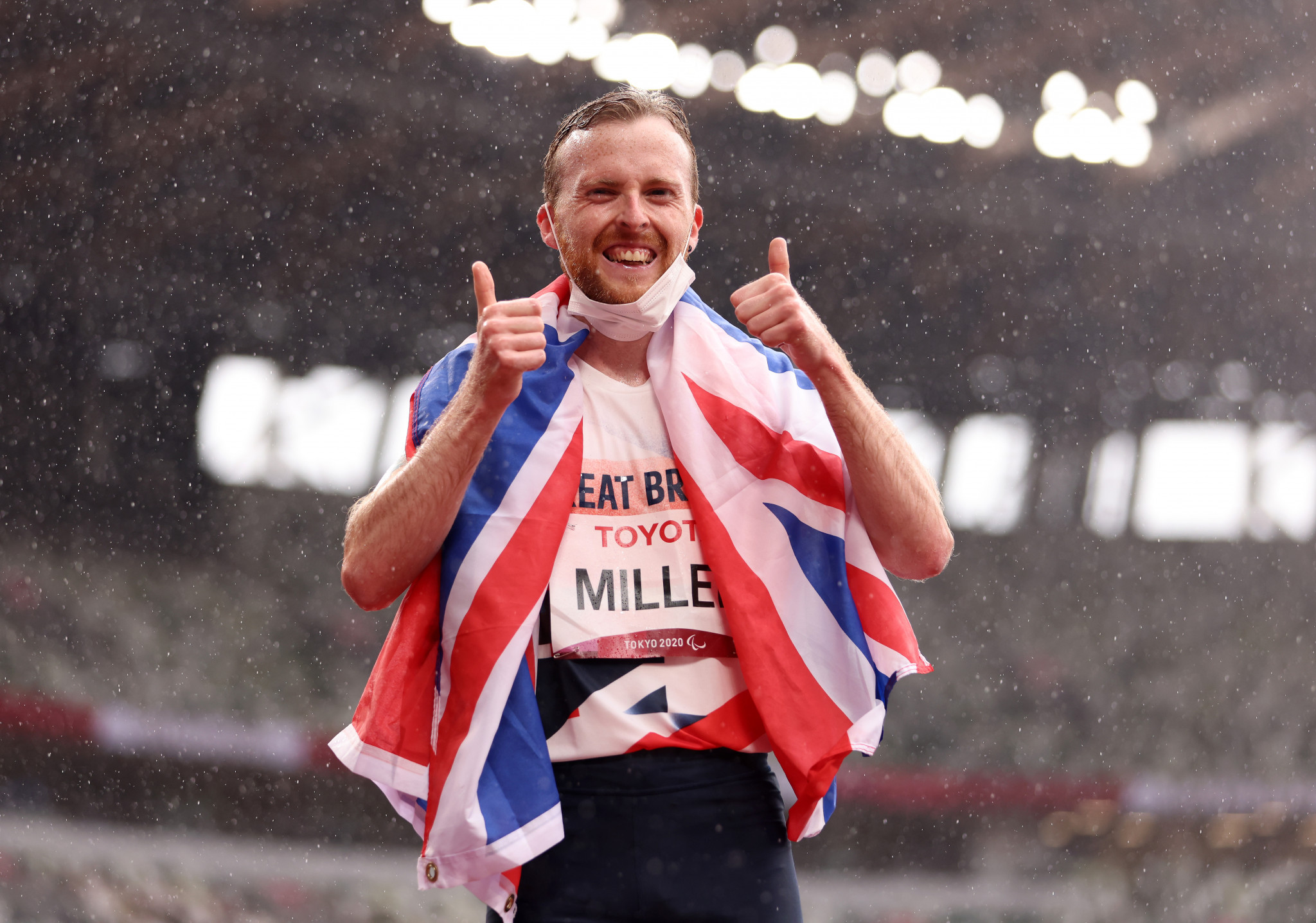 Britain's Owen Miller won the men's T20 1500m with a gallant effort ©Getty Images