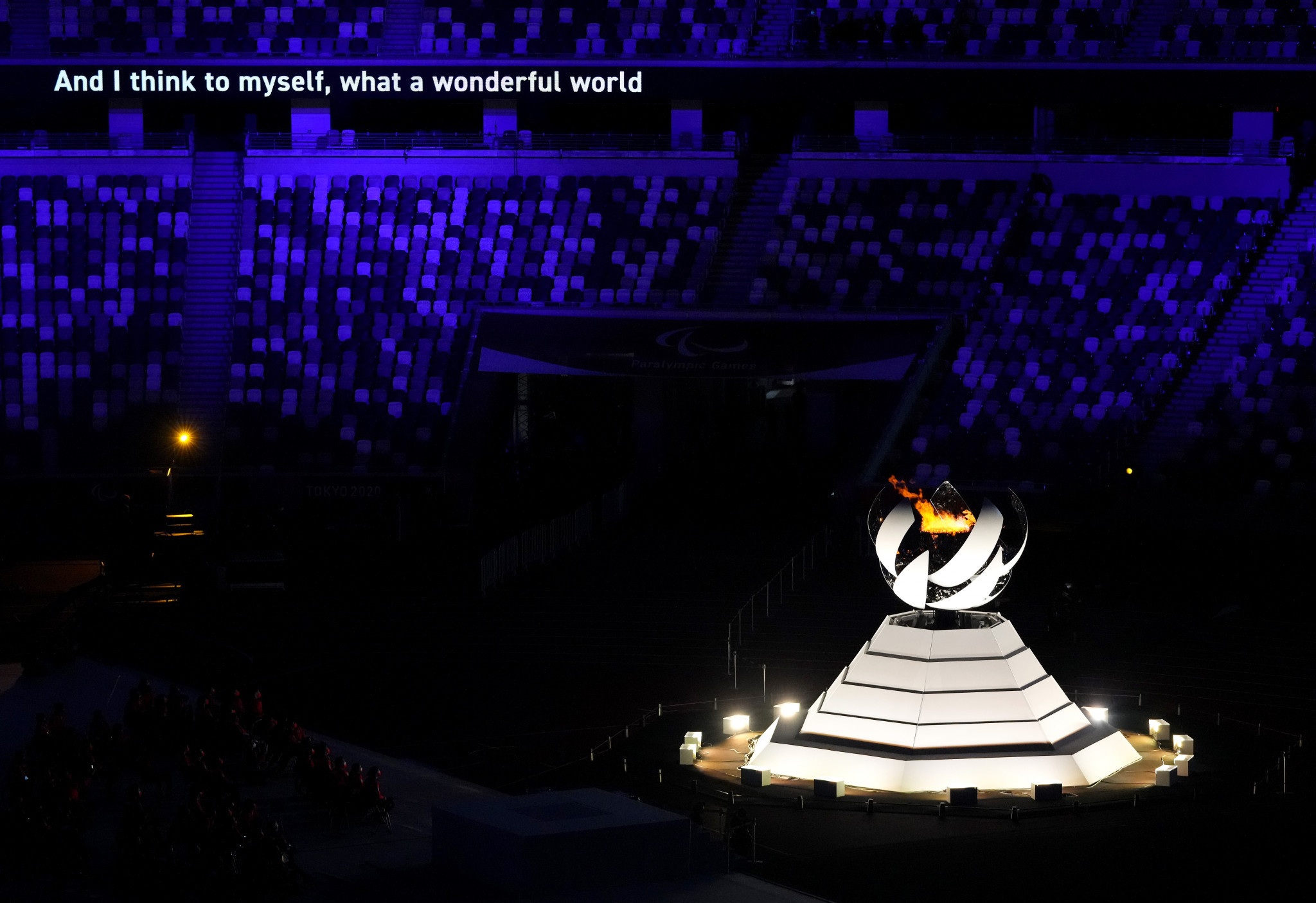 The Paralympic Flame was extinguished at the Closing Ceremony to the Tokyo 2020 Games ©Getty Images