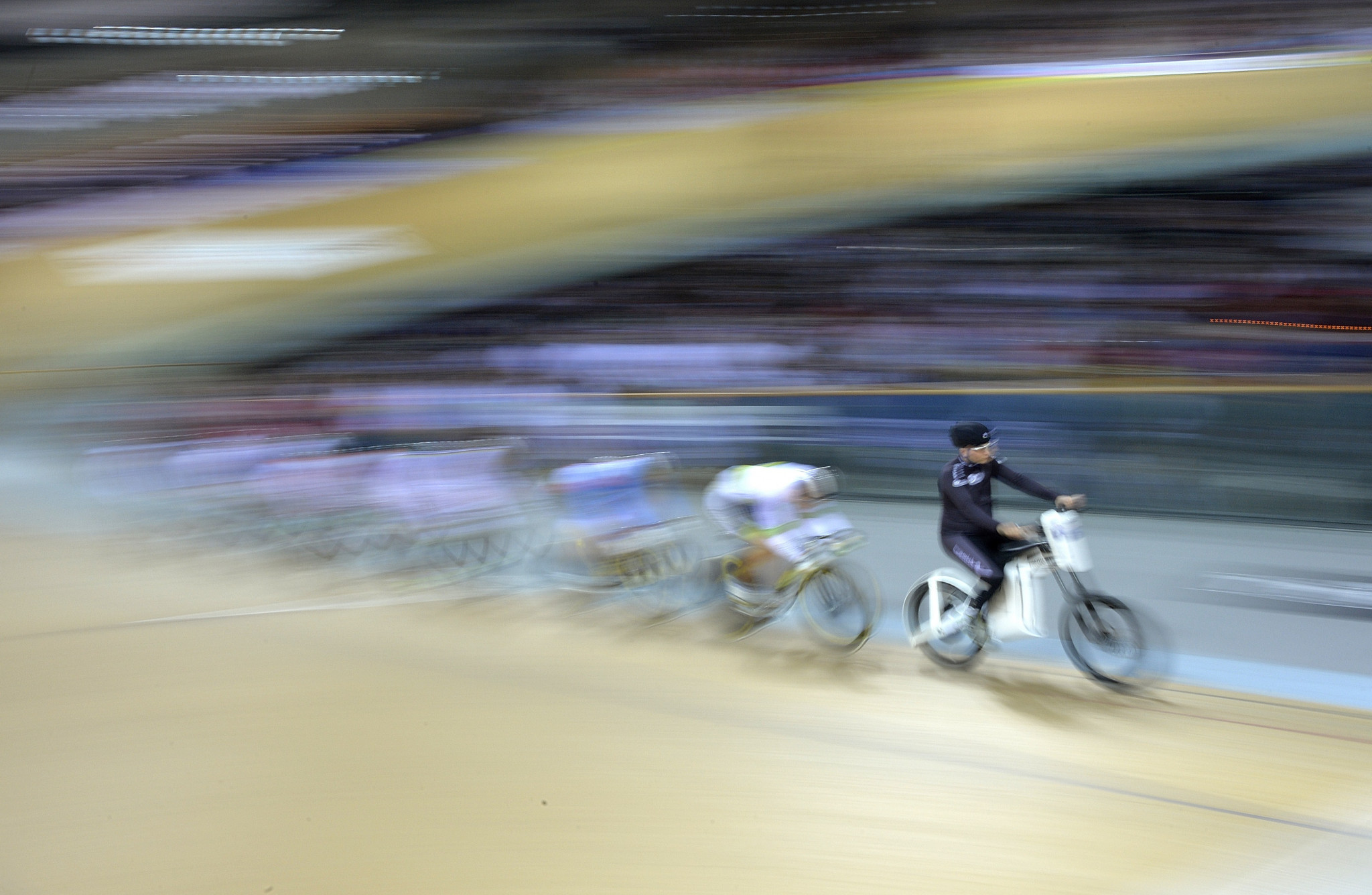 The final day of the UCI Junior Track Cycling World Championships in Cairo saw five further rainbow jerseys up for grabs ©Getty Images