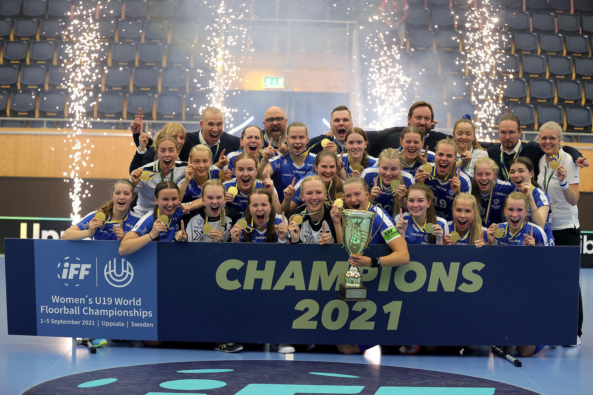 Hämäläinen hattrick gives Finland remarkable win in IFF Women's Under-19 World Floorball Championships