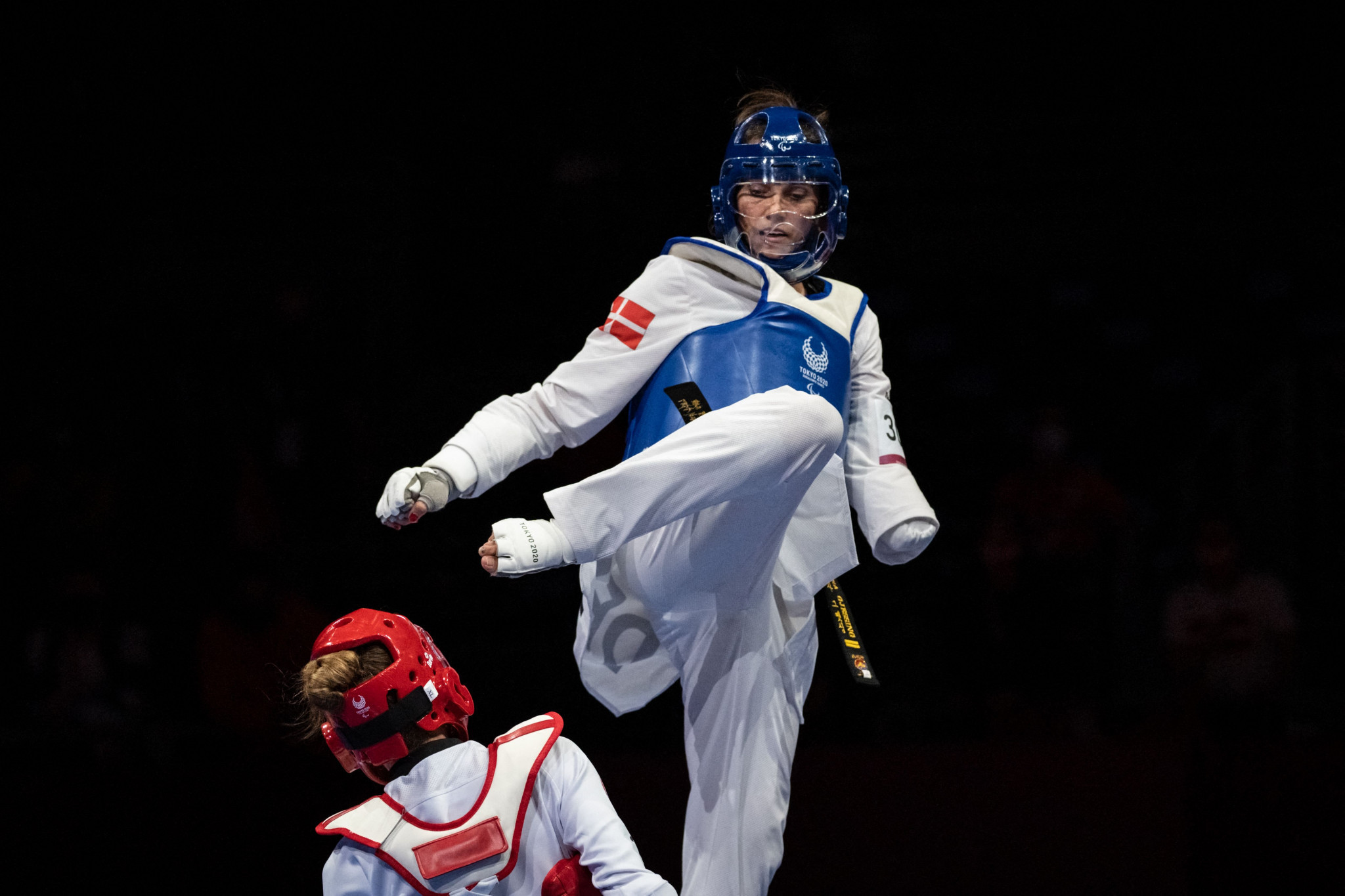 Lisa Gjessing of Denmark received an incredible reception after taking gold in the women's under-58 kilogram contest in the taekwondo ©Getty Images