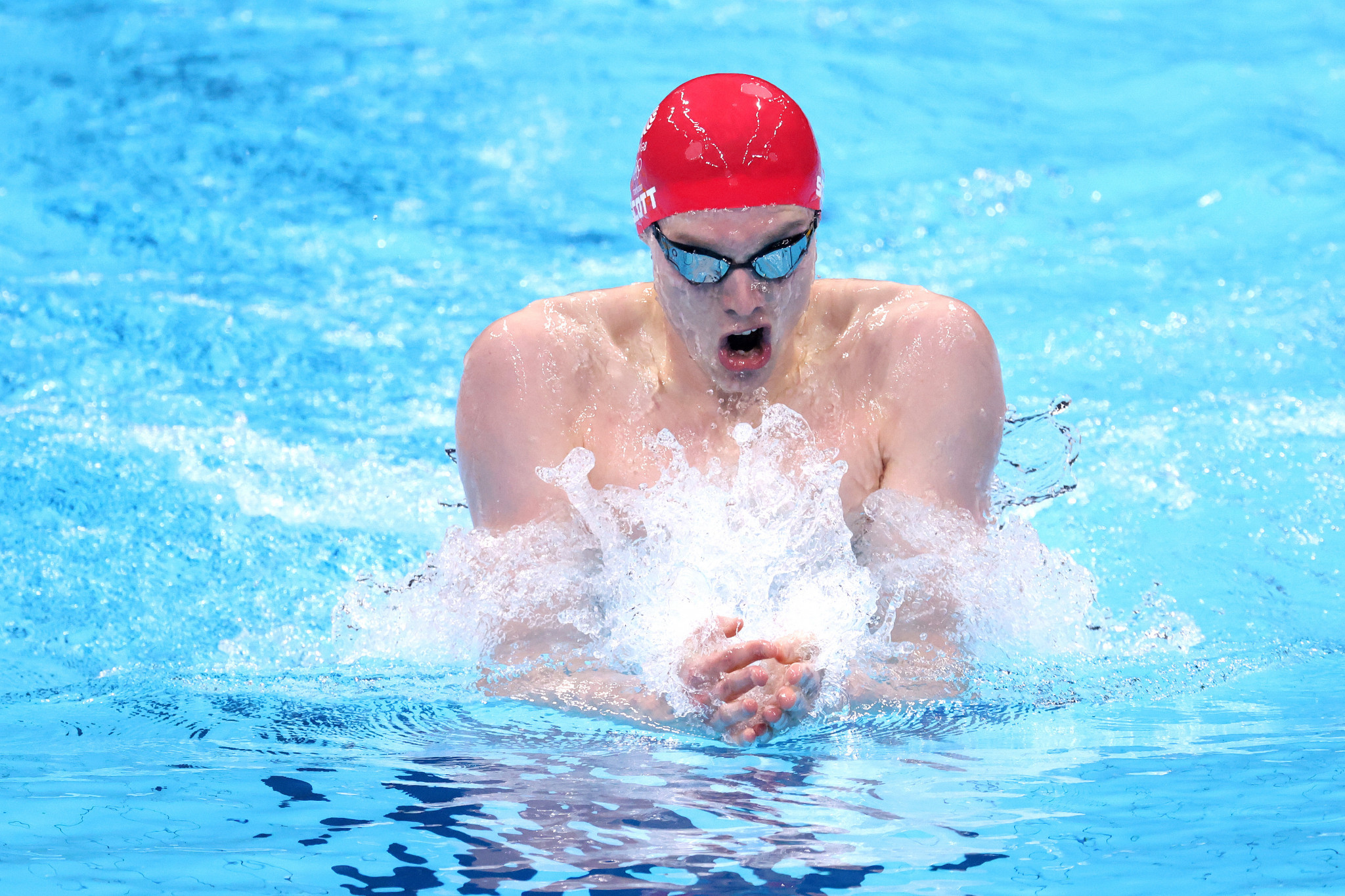 British swimmer Duncan Scott, winner of four Olympic medals at Tokyo 2020, including a gold, is among athletes based at the University of Stirling ©Getty Images