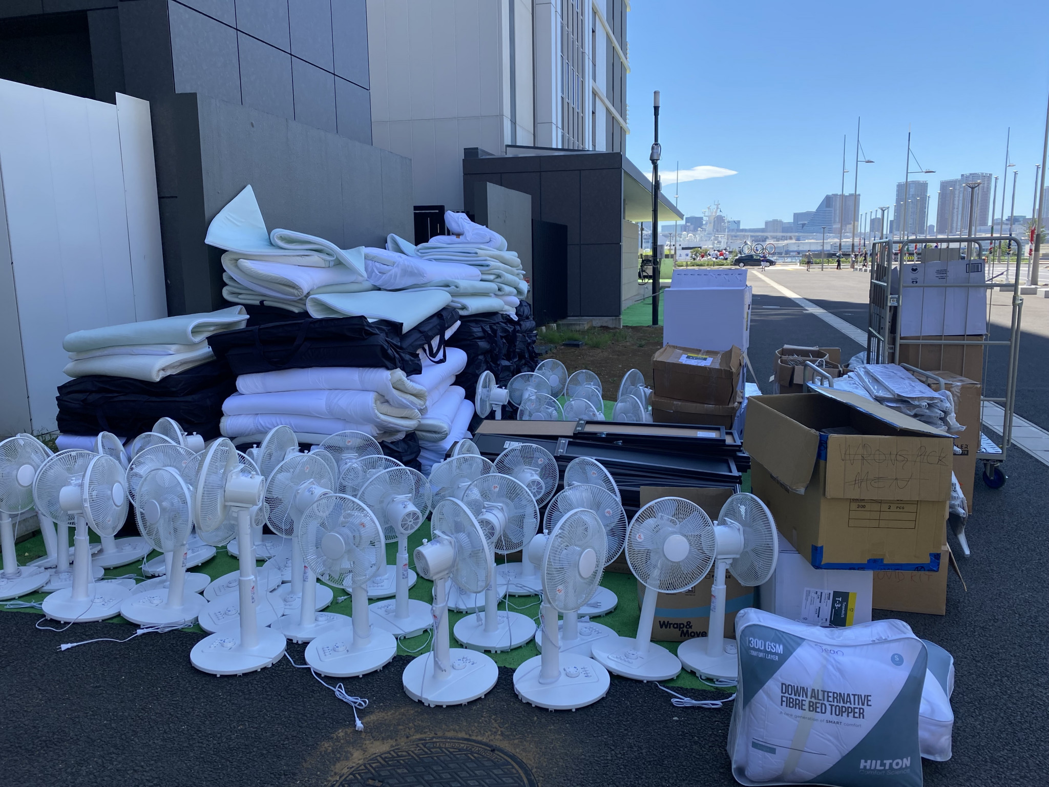 As well as food, the Australian Olympic Committee also donated bedding and electrical equipment to charity following the end of Tokyo 2020 ©AOC