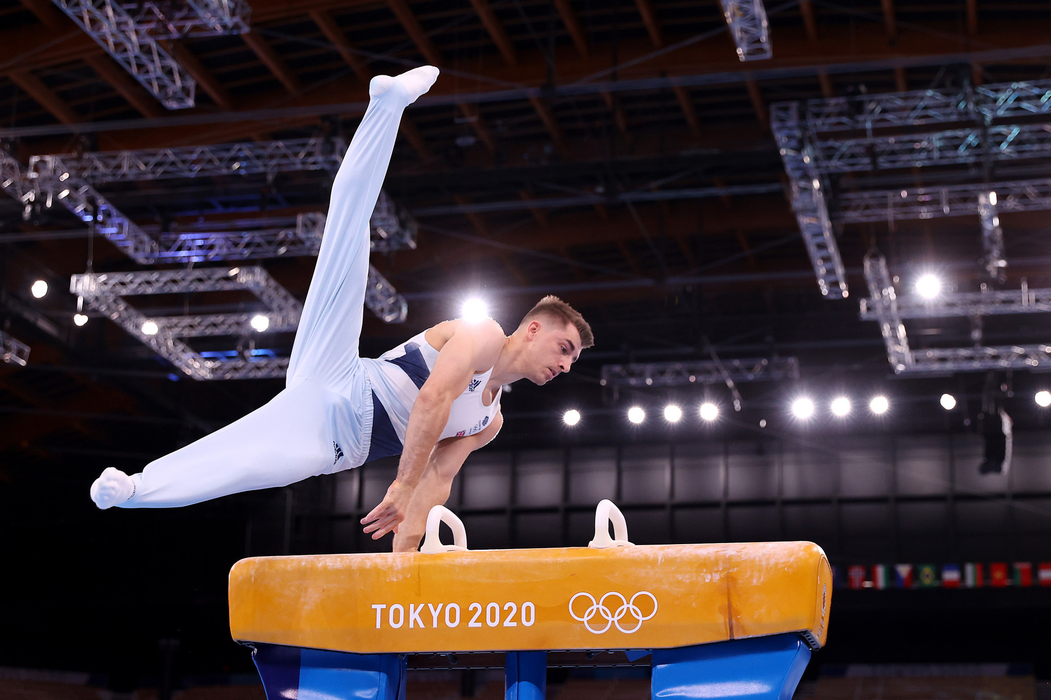 Britain's Max Whitlock became the first athlete in 41 years to retain the men's Olympic pommel horse title at Tokyo 2020 ©Getty Images