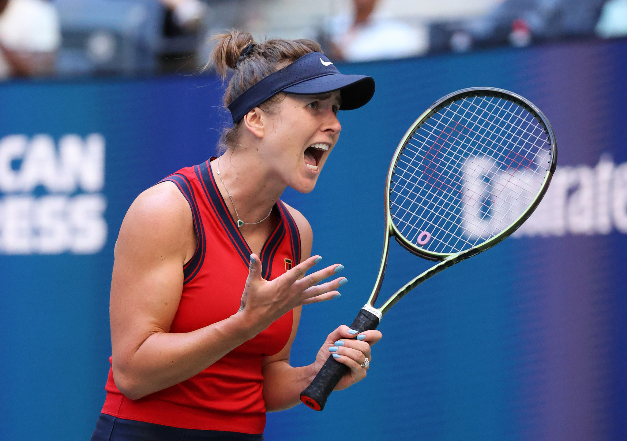 Ukraine's Svitolina, seeded fifth, is the third ranked player in a row to lose to Fernandez ©Getty Images