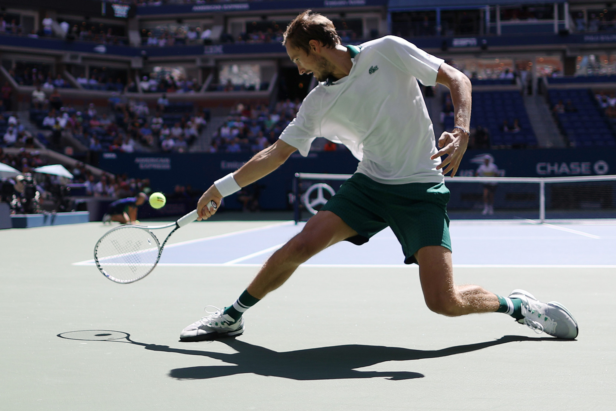 In the men's singles, Russian Daniil Medvedev is through to a third US Open semi-final in a row after a four-set win ©Getty Images