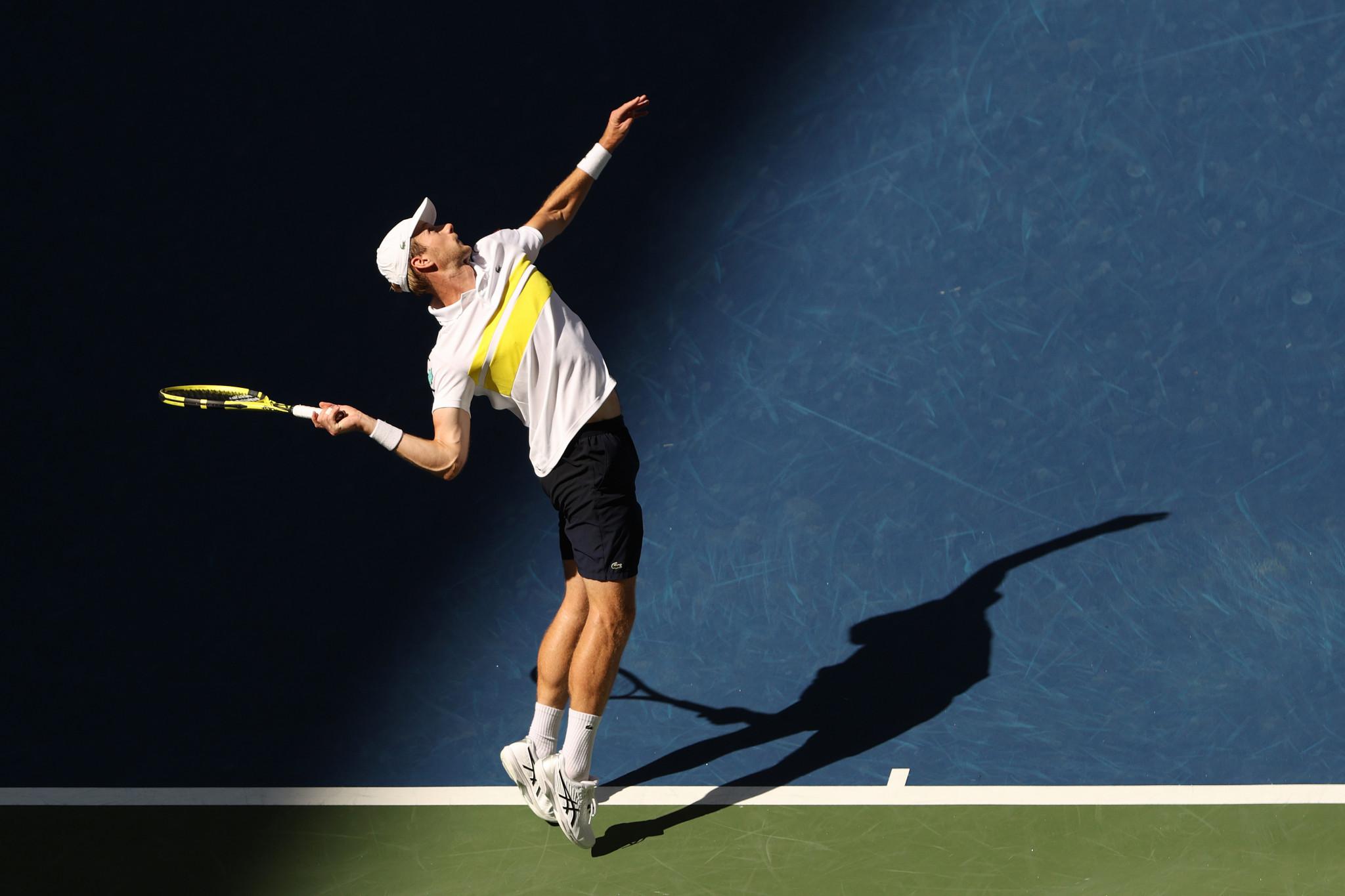 Medvedev ended the run of Dutch qualifier Botic van de Zandschulp in New York ©Getty Images