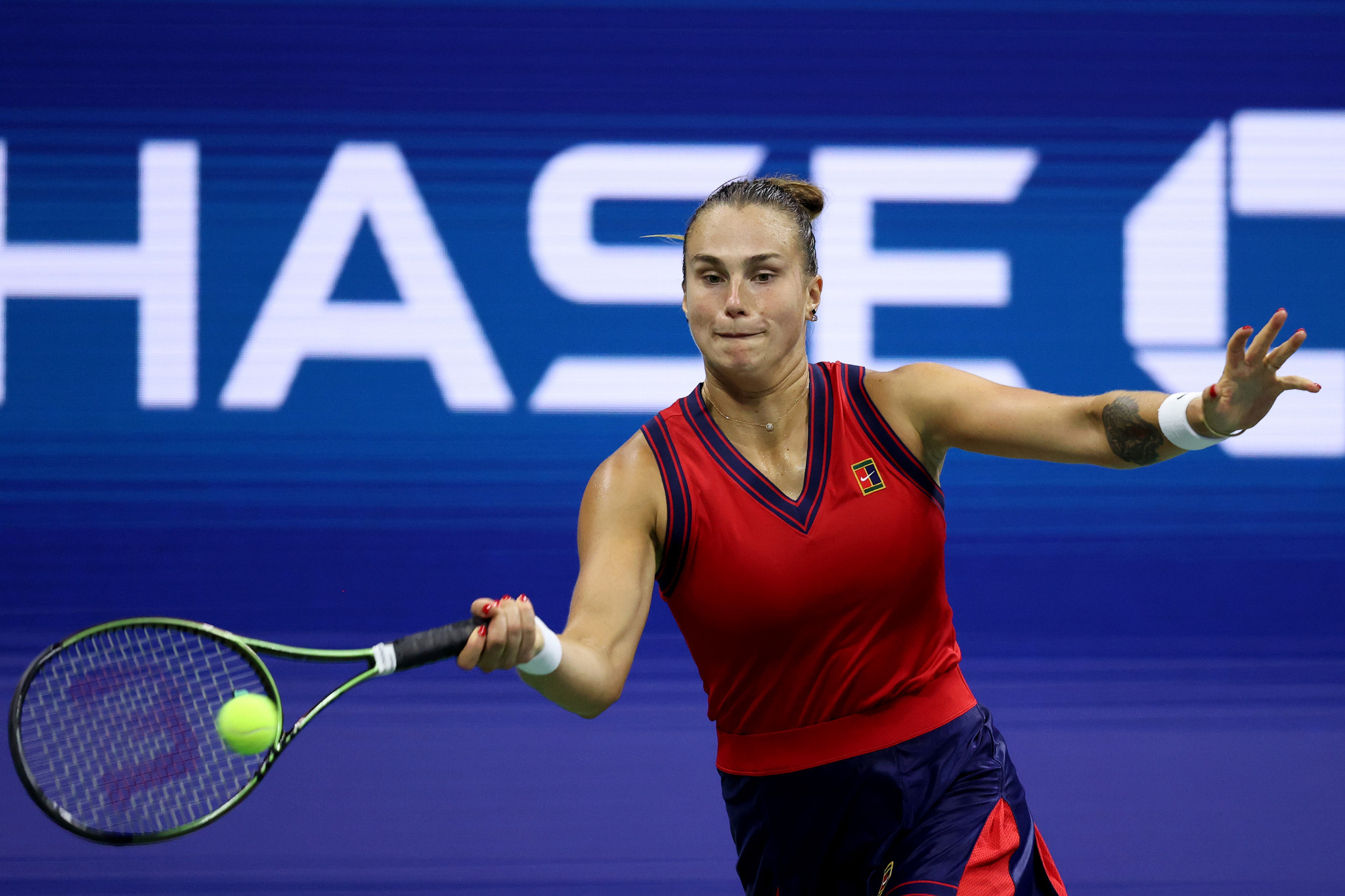 World number two Aryna Sabalenka from Belarus reached the last four courtesy of a straight sets win against the Czech Republic's Barbora Krejčíková ©Getty Images