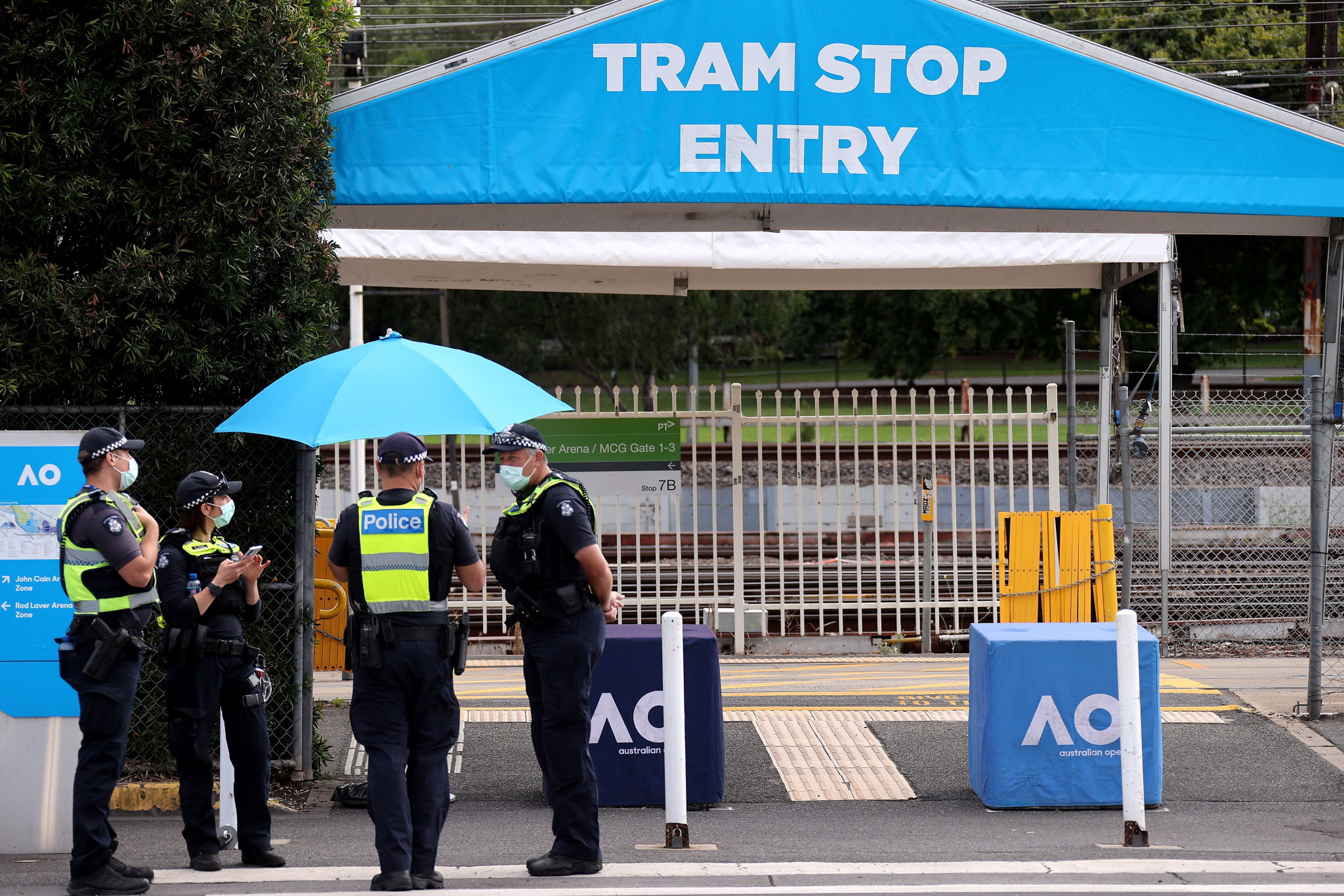 A portion of this year's Australian Open had to be played behind closed doors because of a COVID-19 lockdown in Victoria ©Getty Images