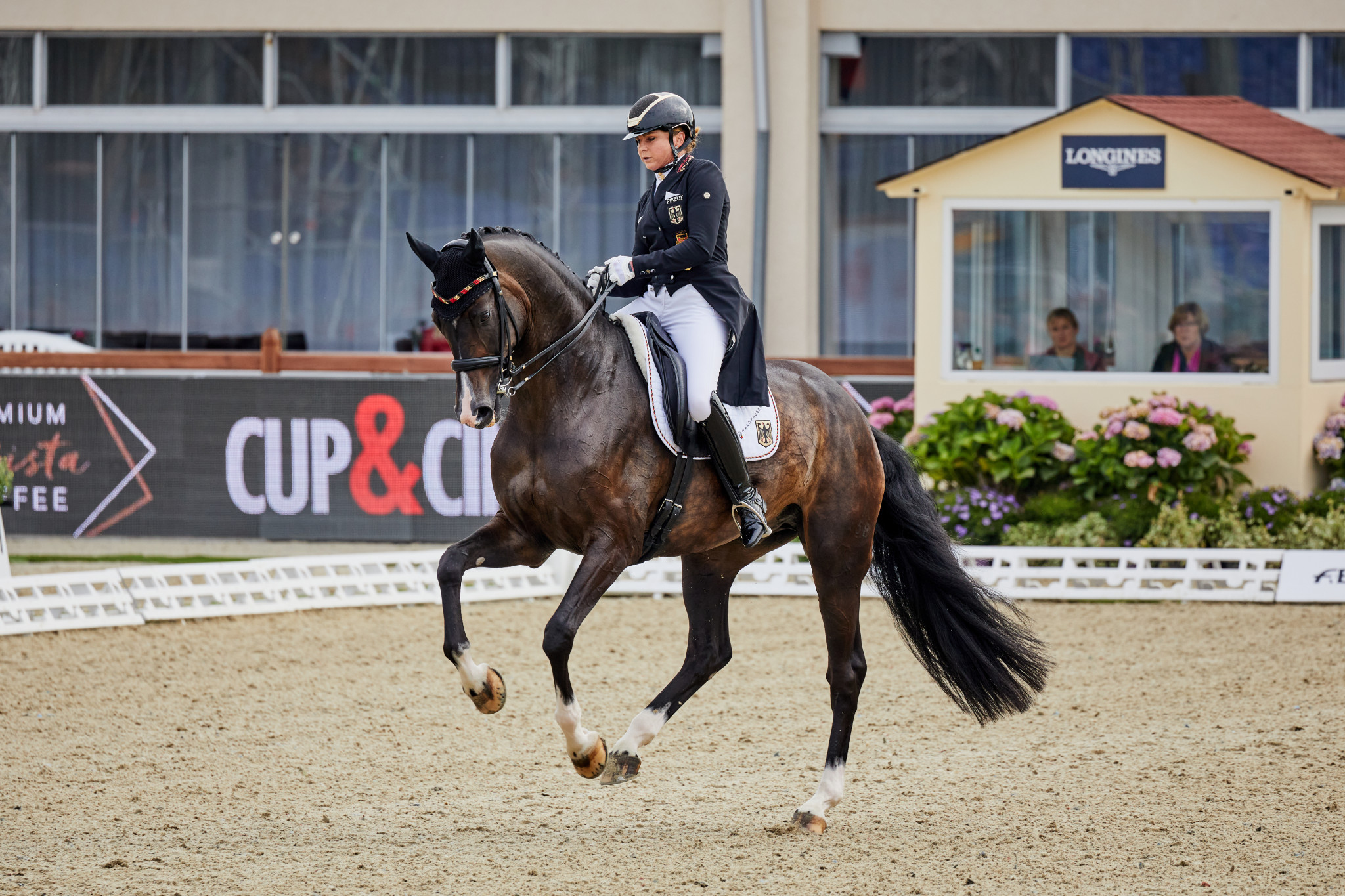 Dorothee Schneider with Faustus contributed 74.985 to Germany's winning total ©FEI/Liz Gregg