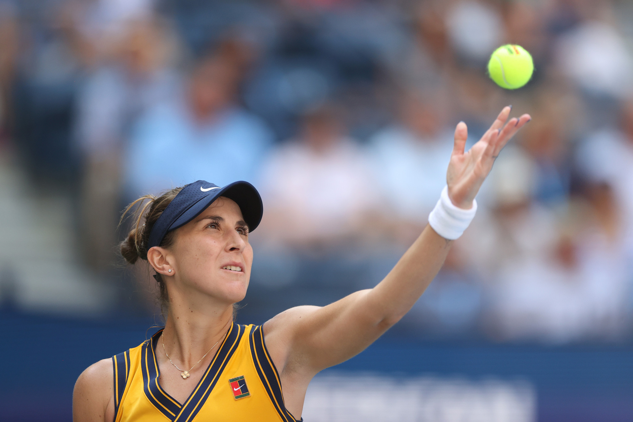 For Switzerland's Bencic - the Olympic champion - the wait for a maiden Grand Slam title goes on, with this the third time she has reached the US Open last eight ©Getty Images