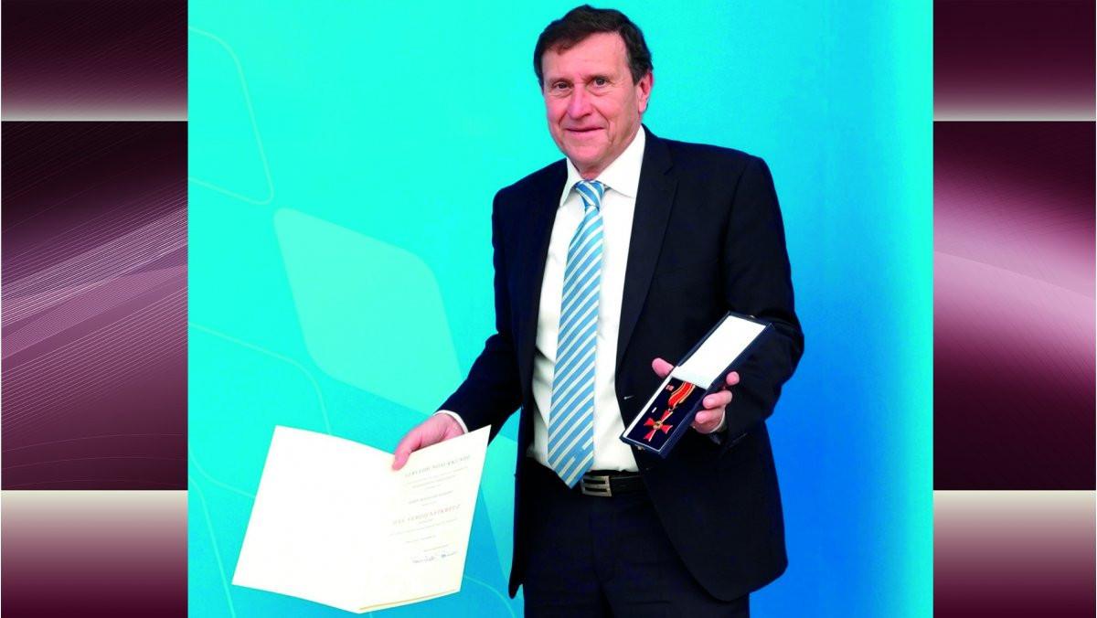 WKF vice-president Weigert receives German award recognising contribution to karate