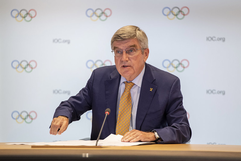 IOC President Thomas Bach suggested the organisation was opposed to FIFA's biennial World Cup plan ©IOC