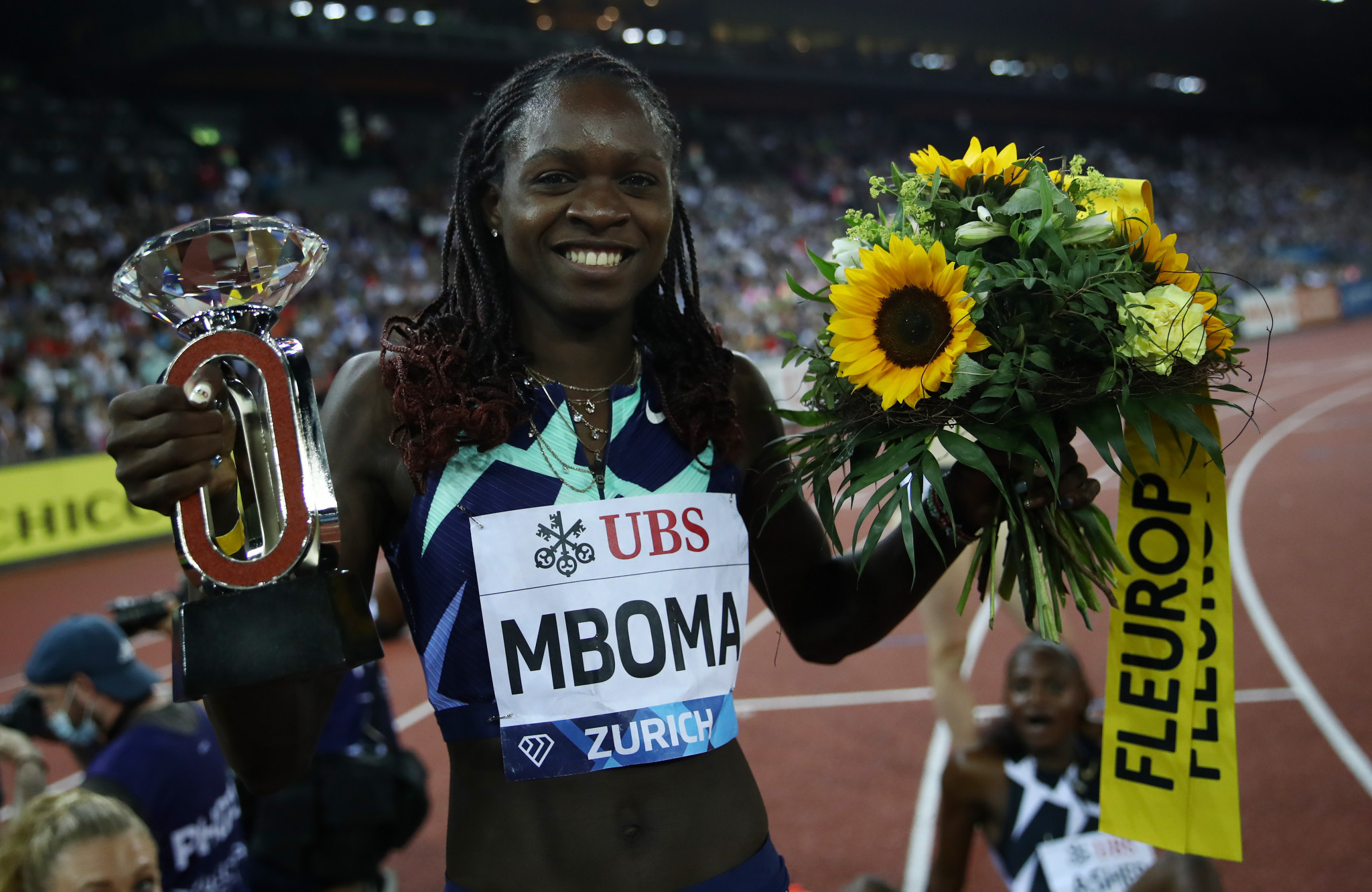 Christine Mboma's brilliant 2021 continued as the teenager set an African 200m record ©Getty Images